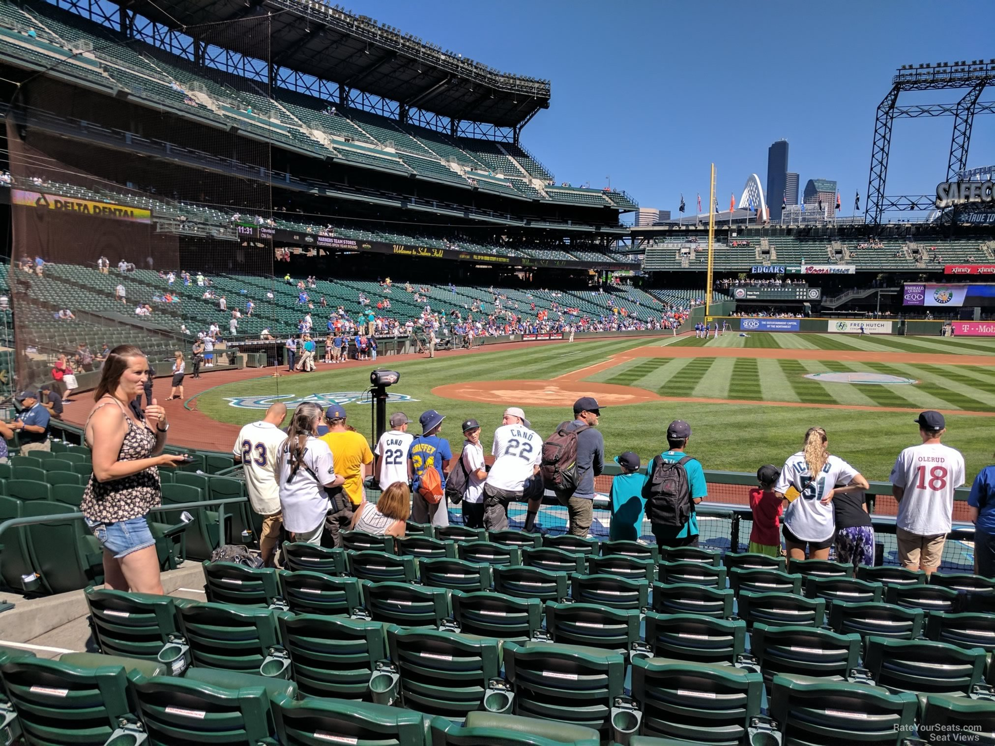 Seat View for Safeco Field Section 124