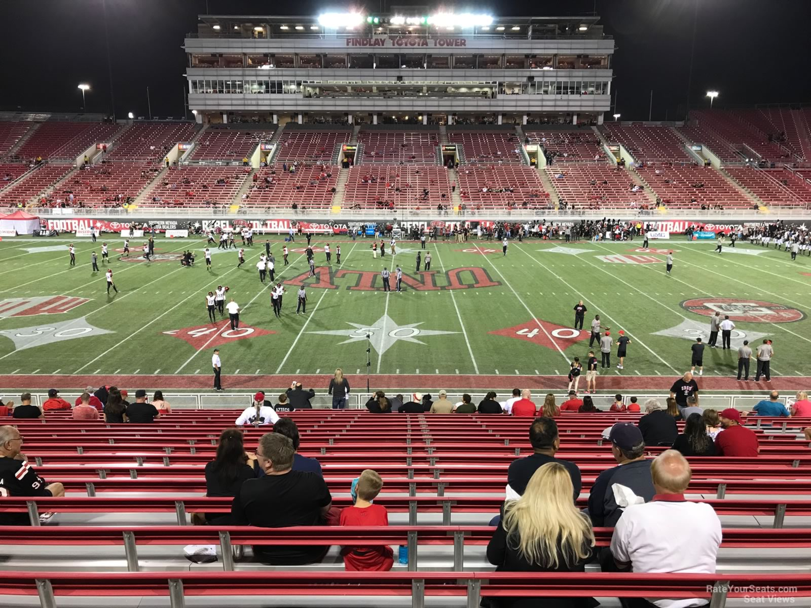 Seat View for Sam Boyd Stadium Section 107, Row 12
