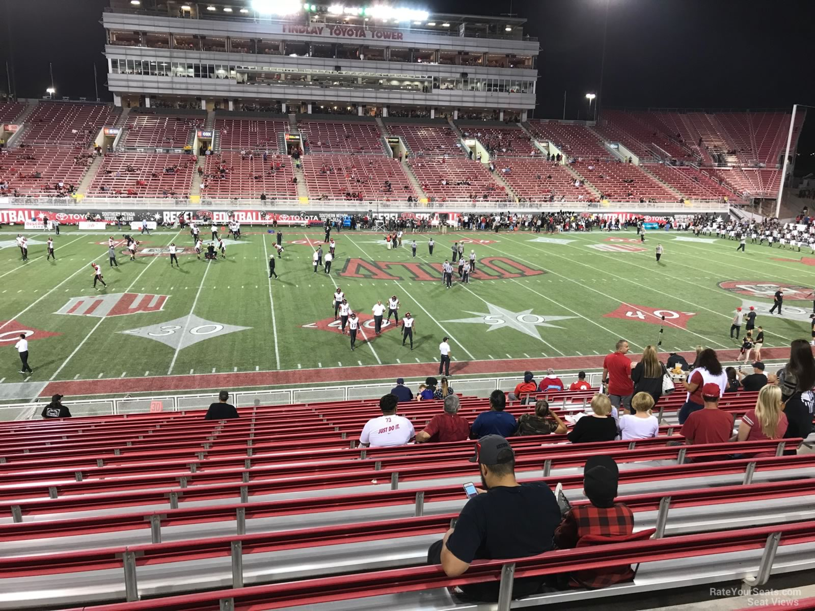 Seat View for Sam Boyd Stadium Section 108, Row 12