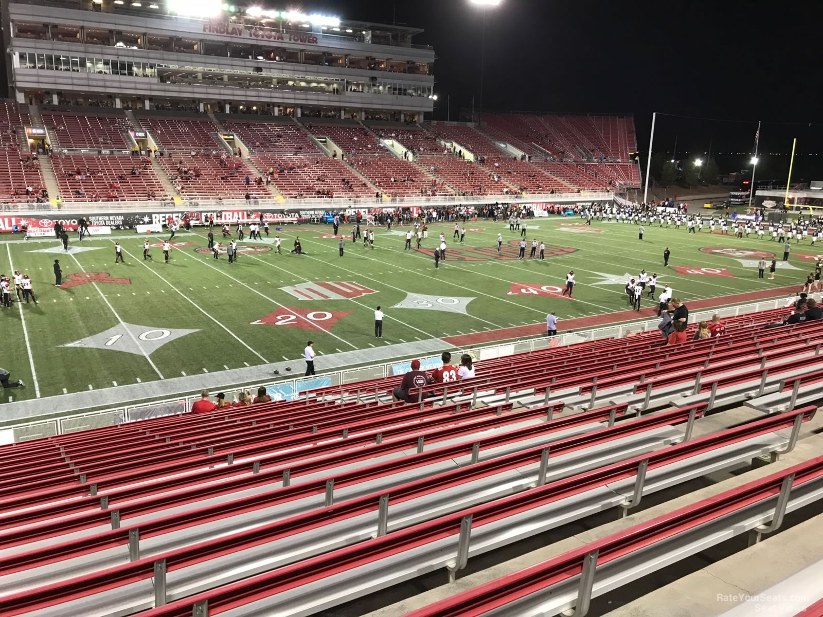Seat View for Sam Boyd Stadium Section 110, Row 12