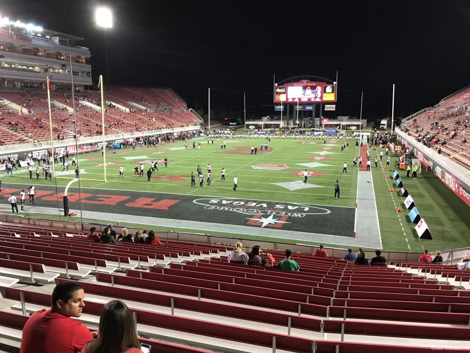 Seat View for Sam Boyd Stadium Section 115, Row 12