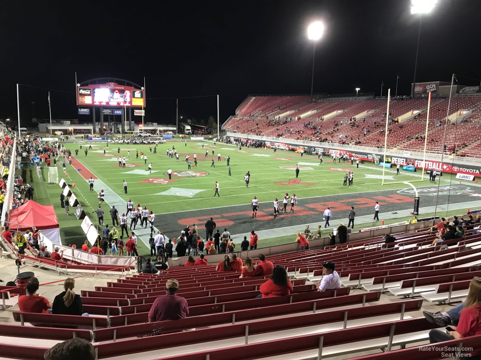 Seat View for Sam Boyd Stadium Section 121, Row 12
