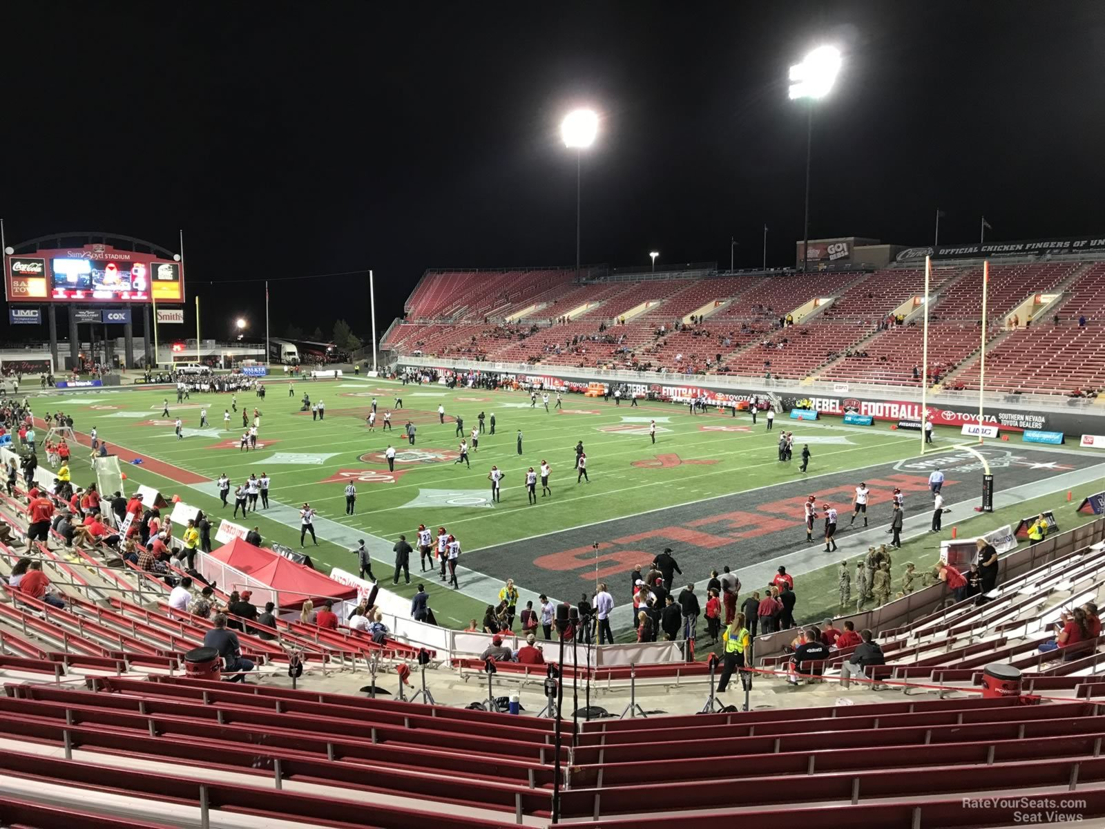 Seat View for Sam Boyd Stadium Section 122, Row 12
