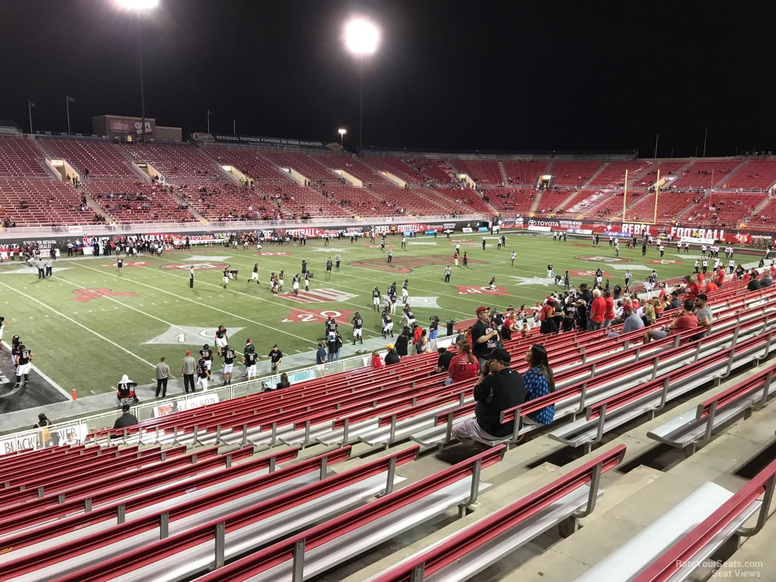 Seat View for Sam Boyd Stadium Section 132, Row 12