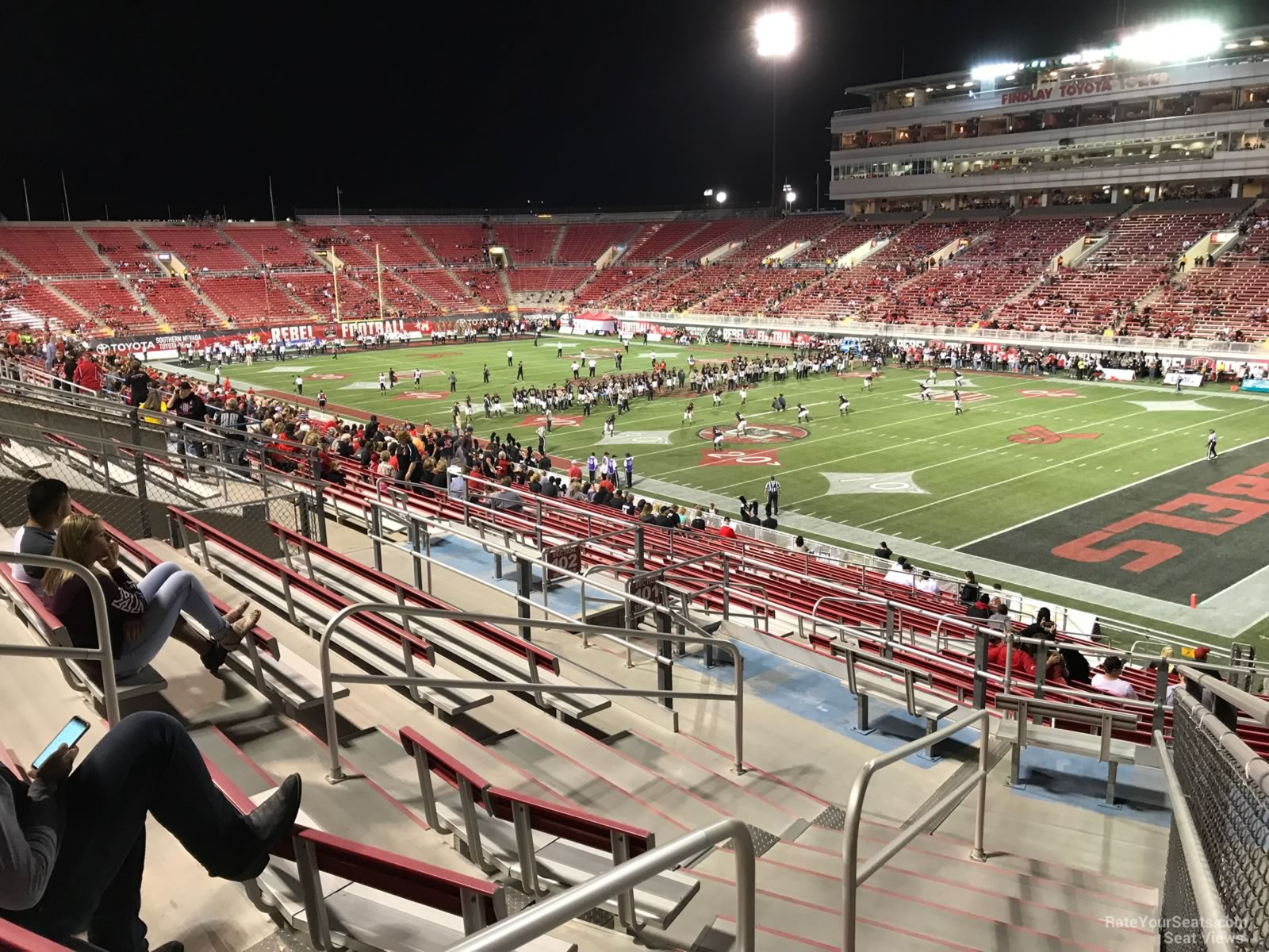 Seat View for Sam Boyd Stadium Section 204, Row 11