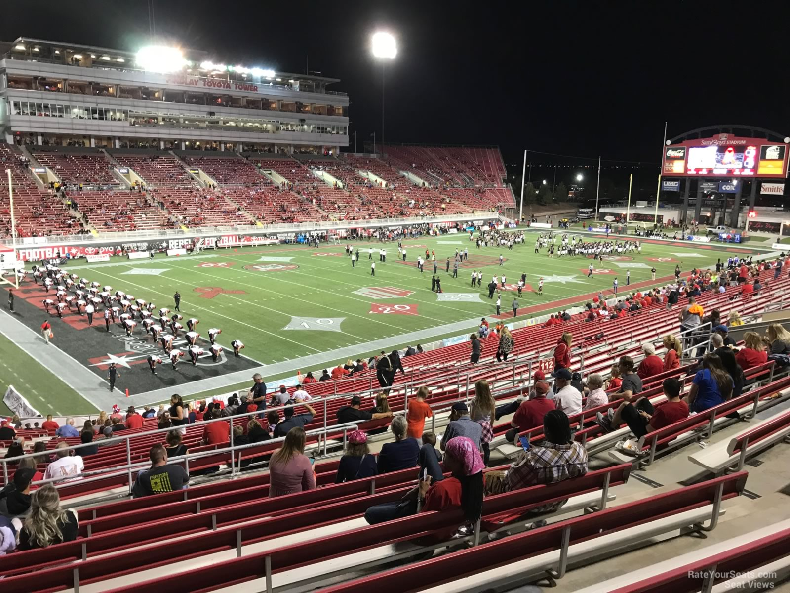 Seat View for Sam Boyd Stadium Section 214, Row 32