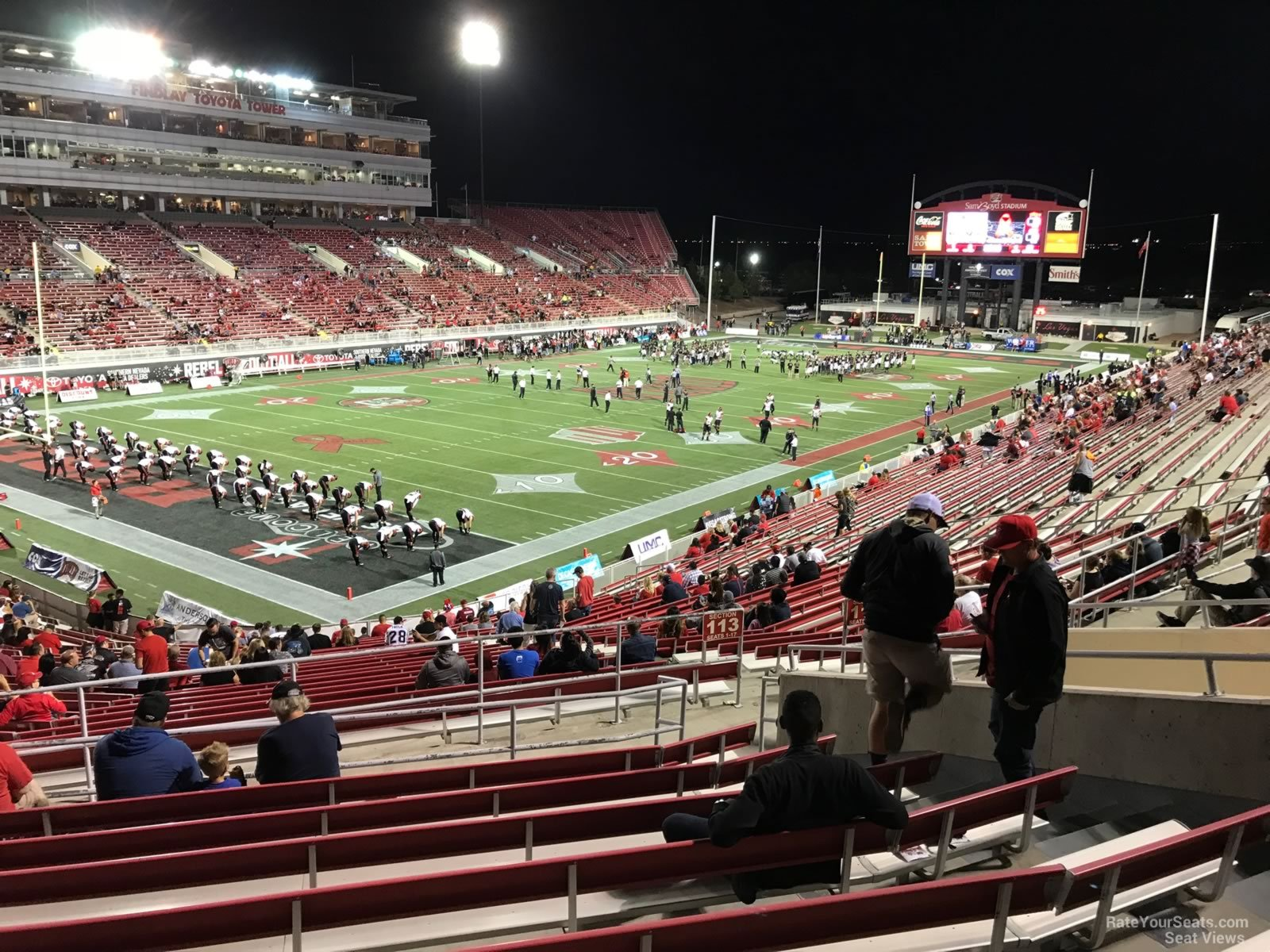 Seat View for Sam Boyd Stadium Section 215, Row 32