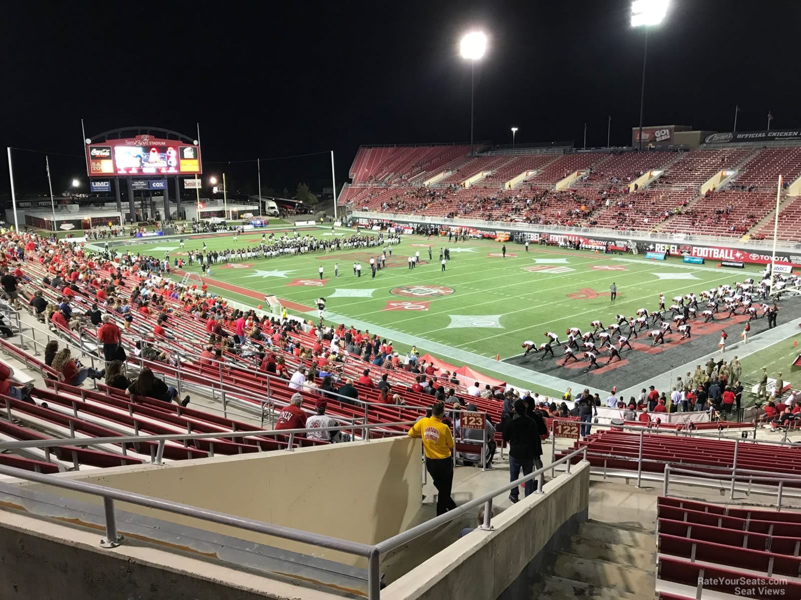 Seat View For Sam Boyd Stadium Section 226 Row 32