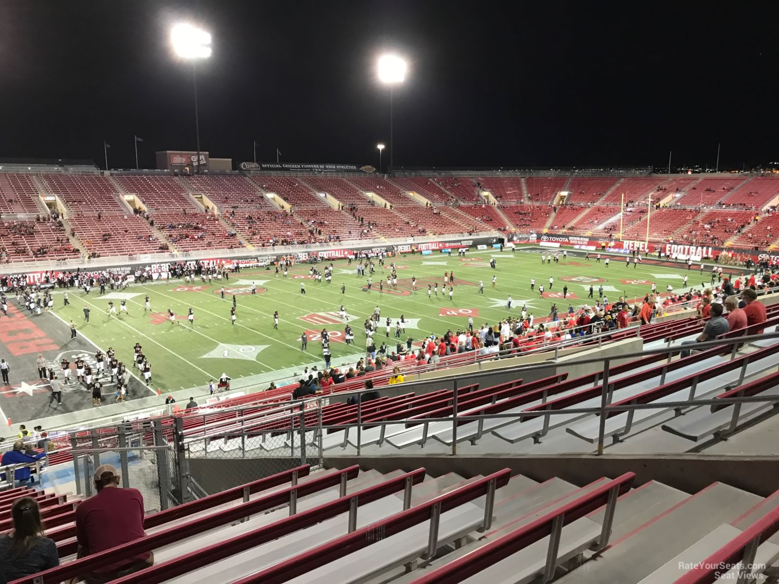 Seat View For Sam Boyd Stadium Section 233 Row 11