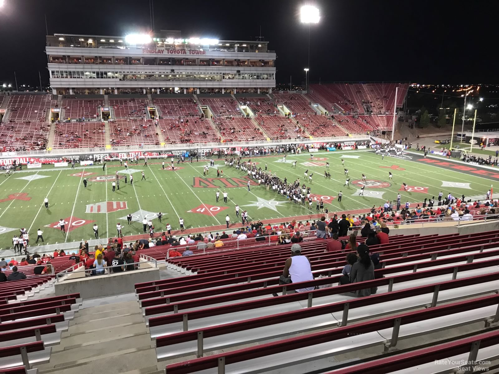 Seat View for Sam Boyd Stadium Section 308, Row 47