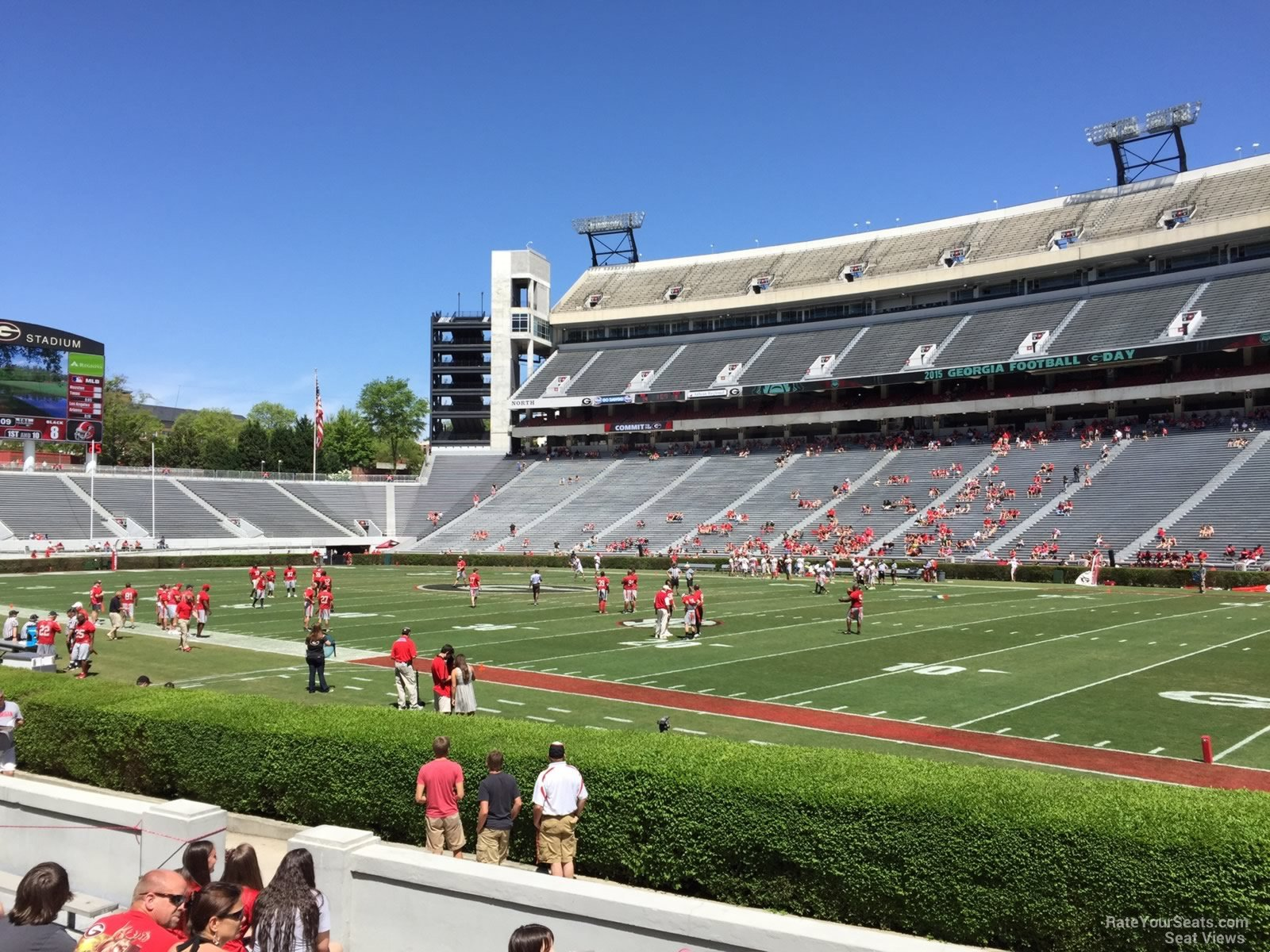 Seat View for Sanford Stadium Section 127, Row 10