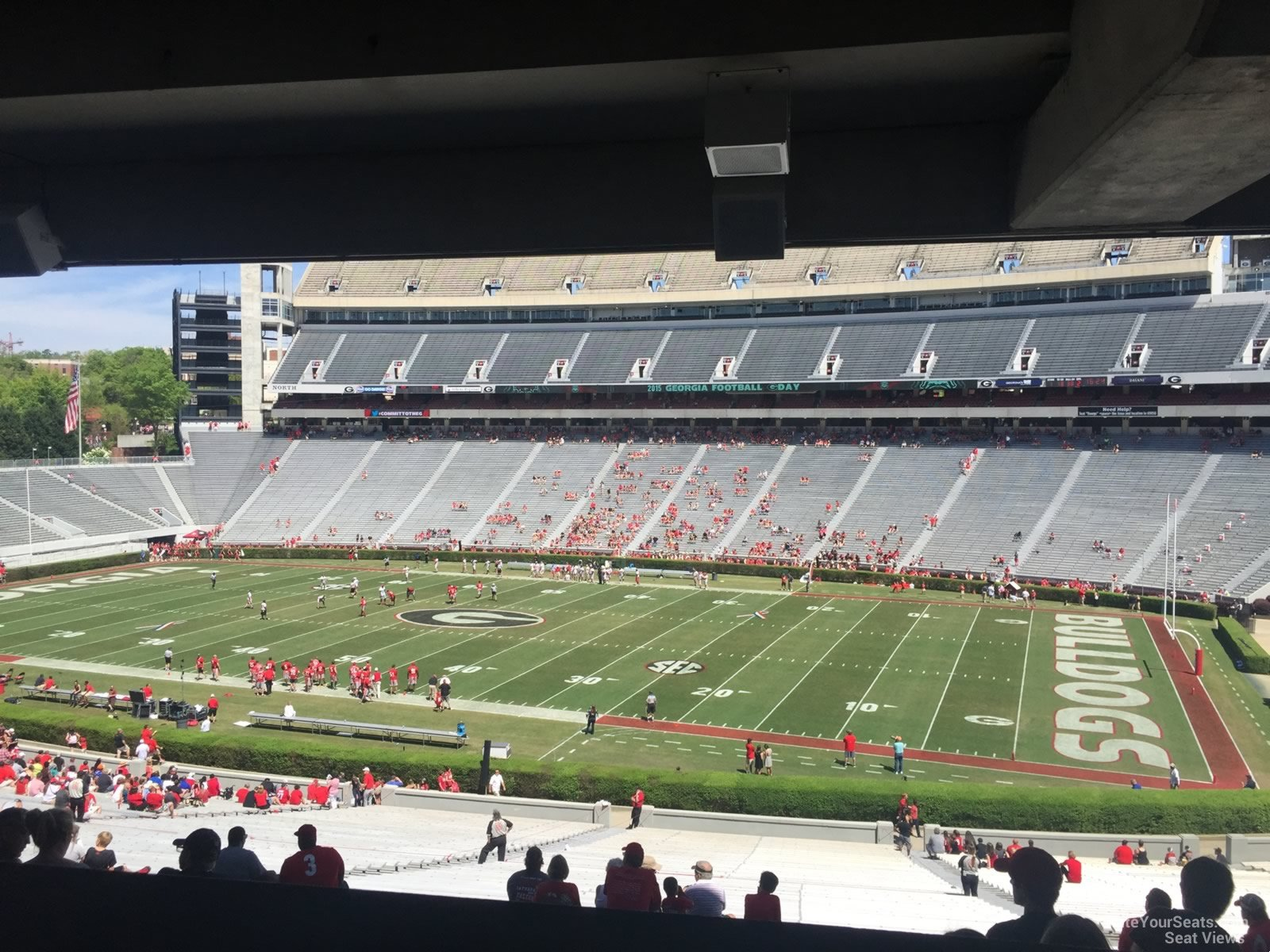 Sanford Stadium Section 128 Rateyourseats Com