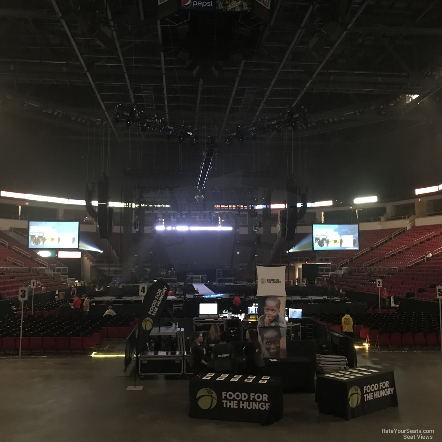 Concert Seat View for Save Mart Center Section 103, Row D