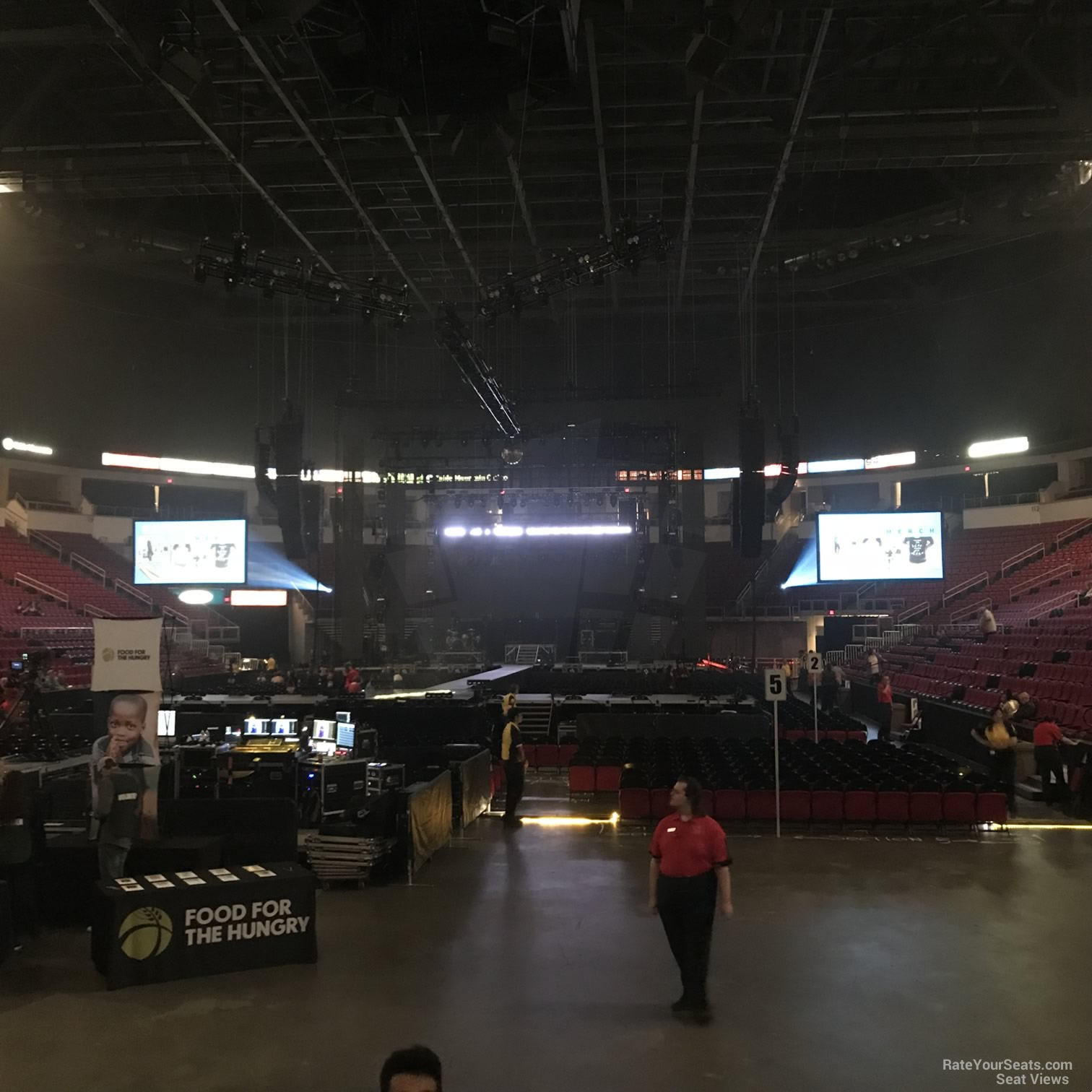 Concert Seat View for Save Mart Center Section 104, Row D