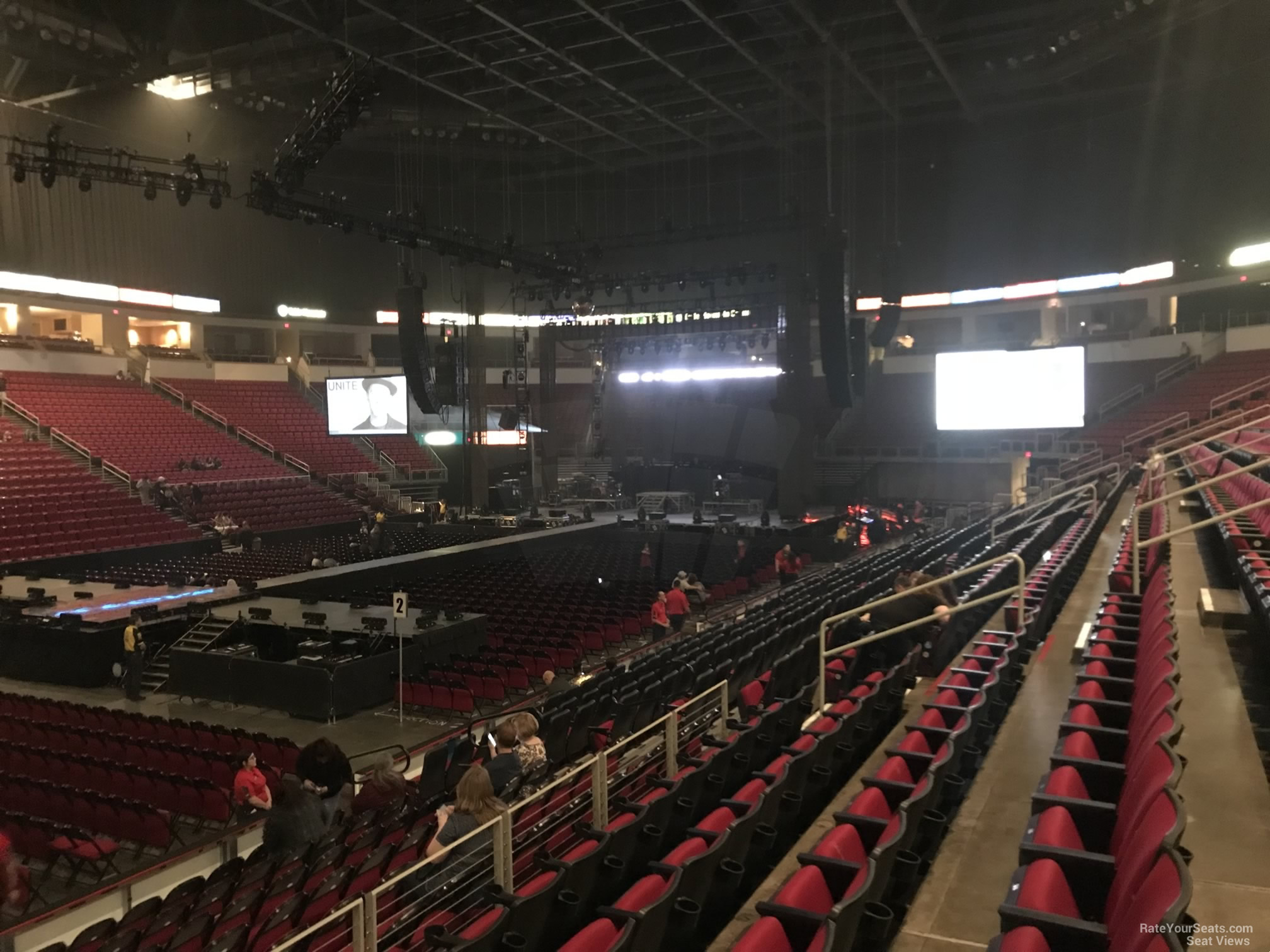 Concert Seat View for Save Mart Center Section 107, Row L