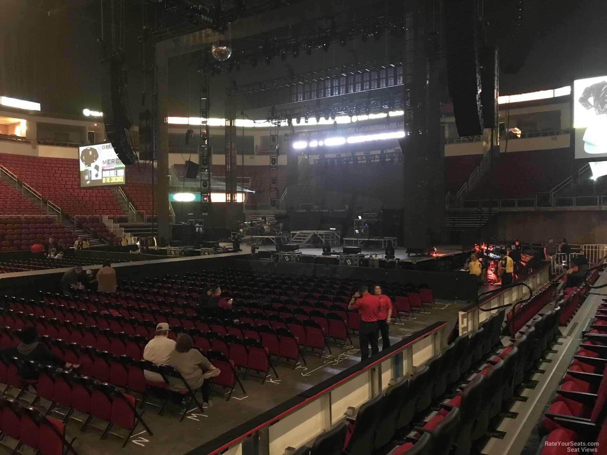 Concert Seat View For Save Mart Center Section 110 Row D