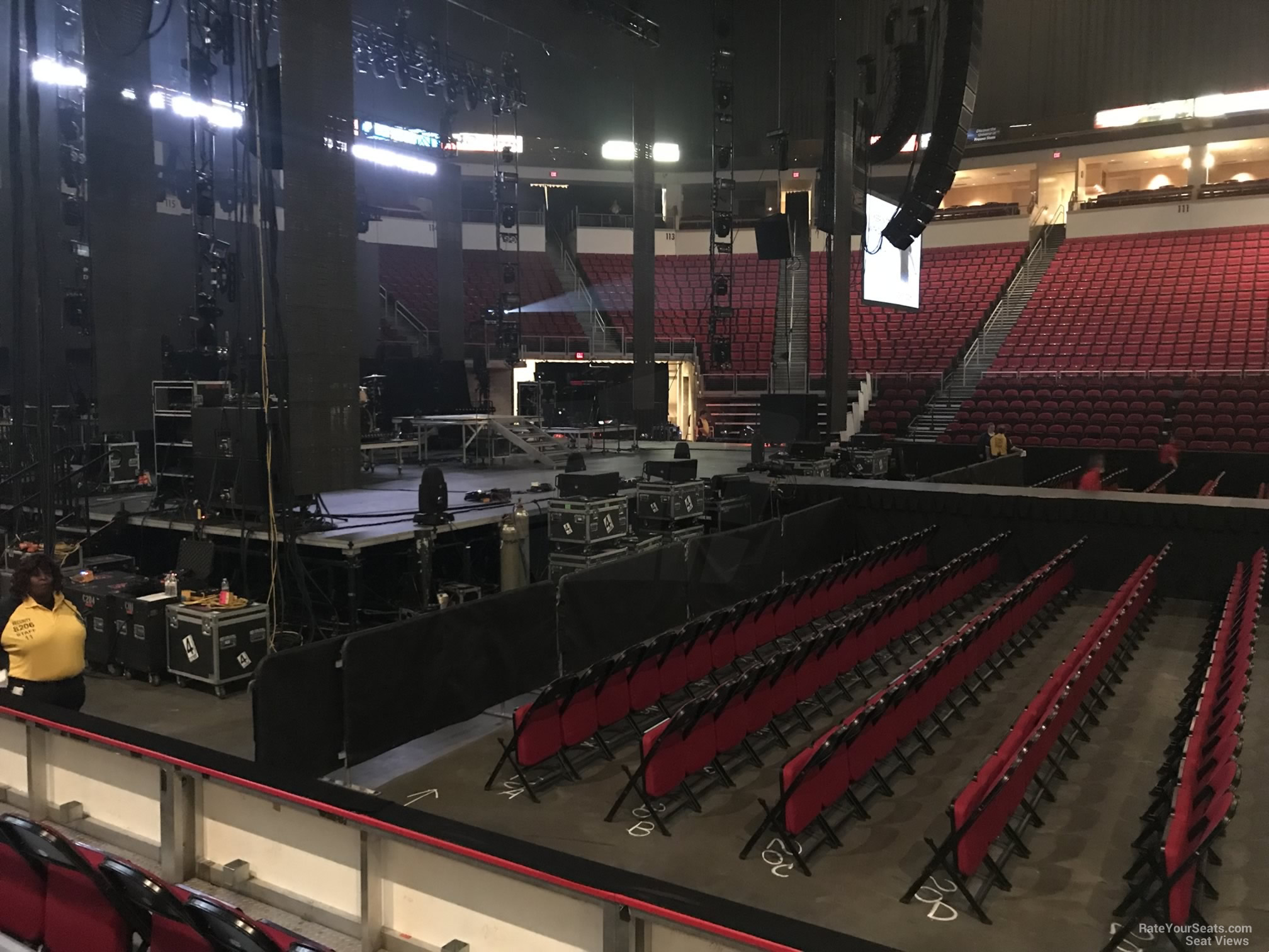 Concert Seat View for Save Mart Center Section 121, Row D