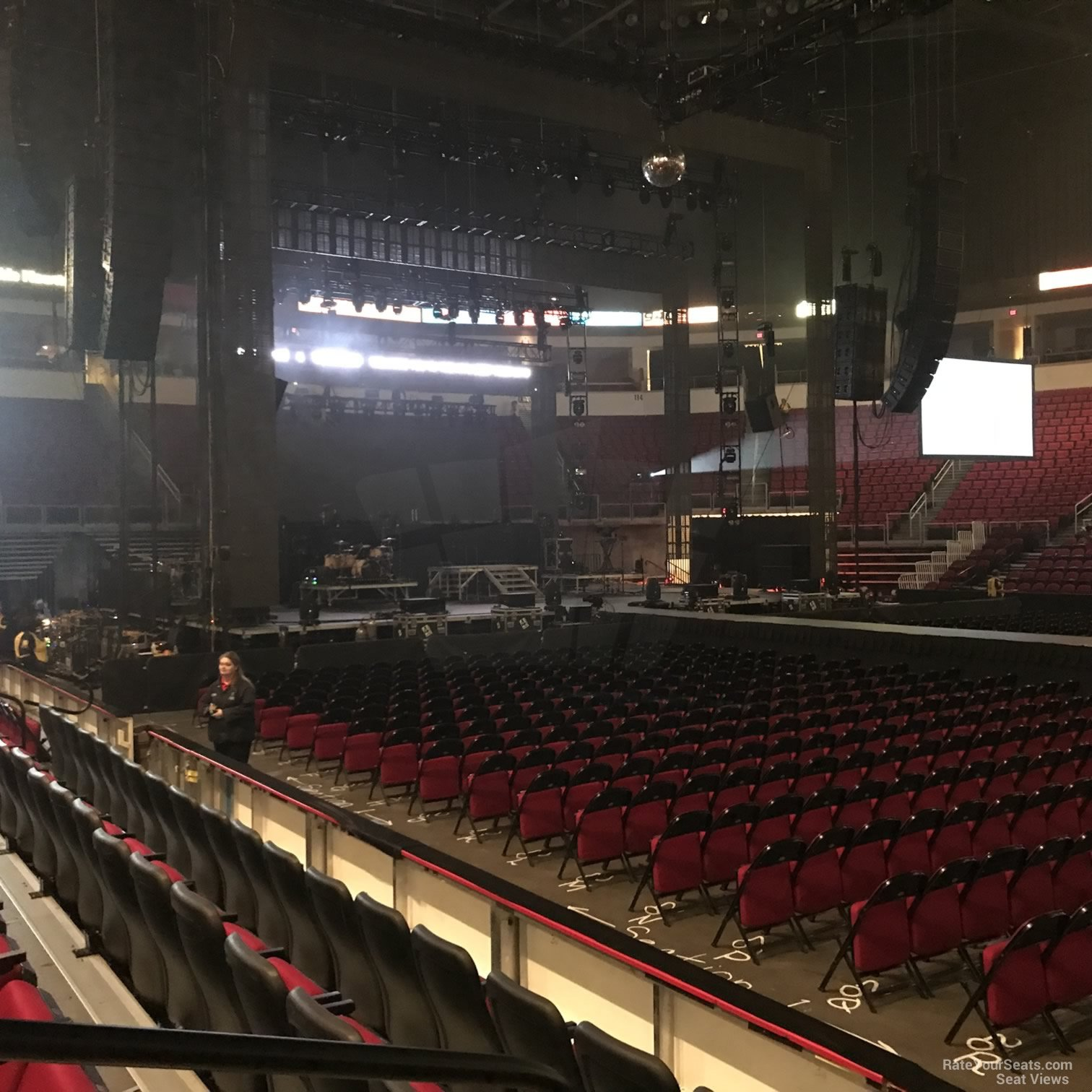 Concert Seat View for Save Mart Center Section 123