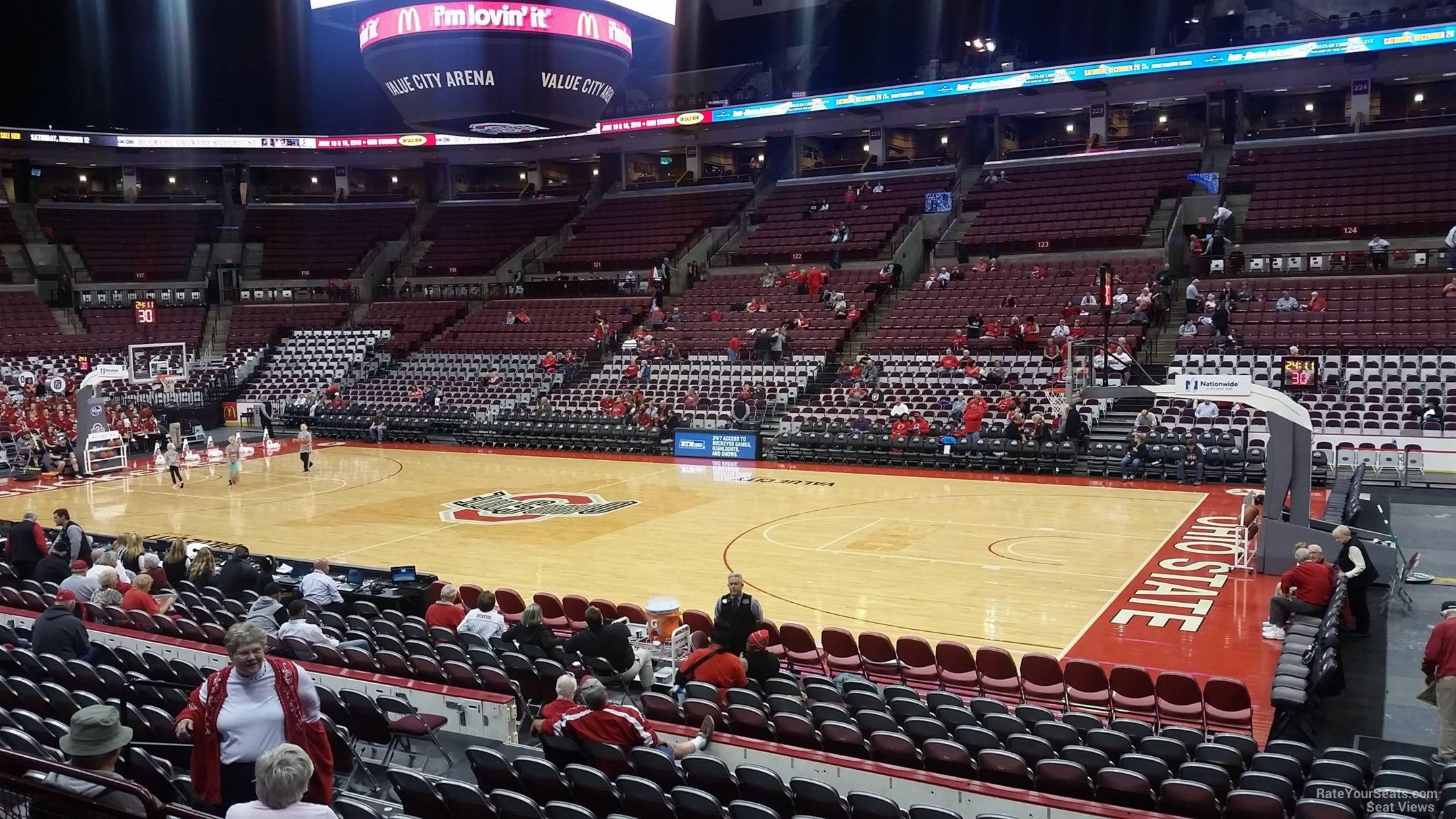 Schottenstein center section 104 ohio state basketball