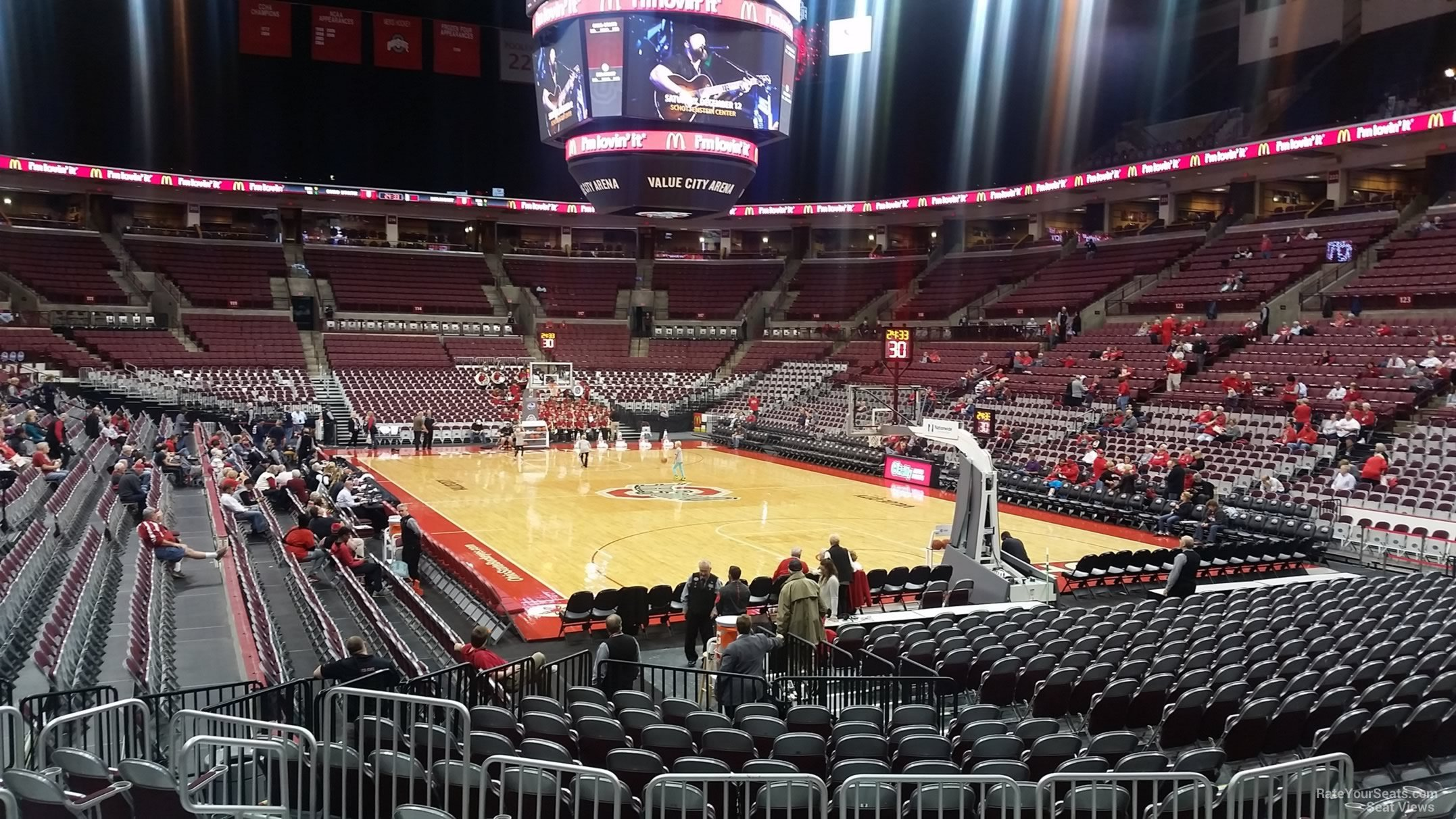 Schottenstein center section 134 ohio state basketball