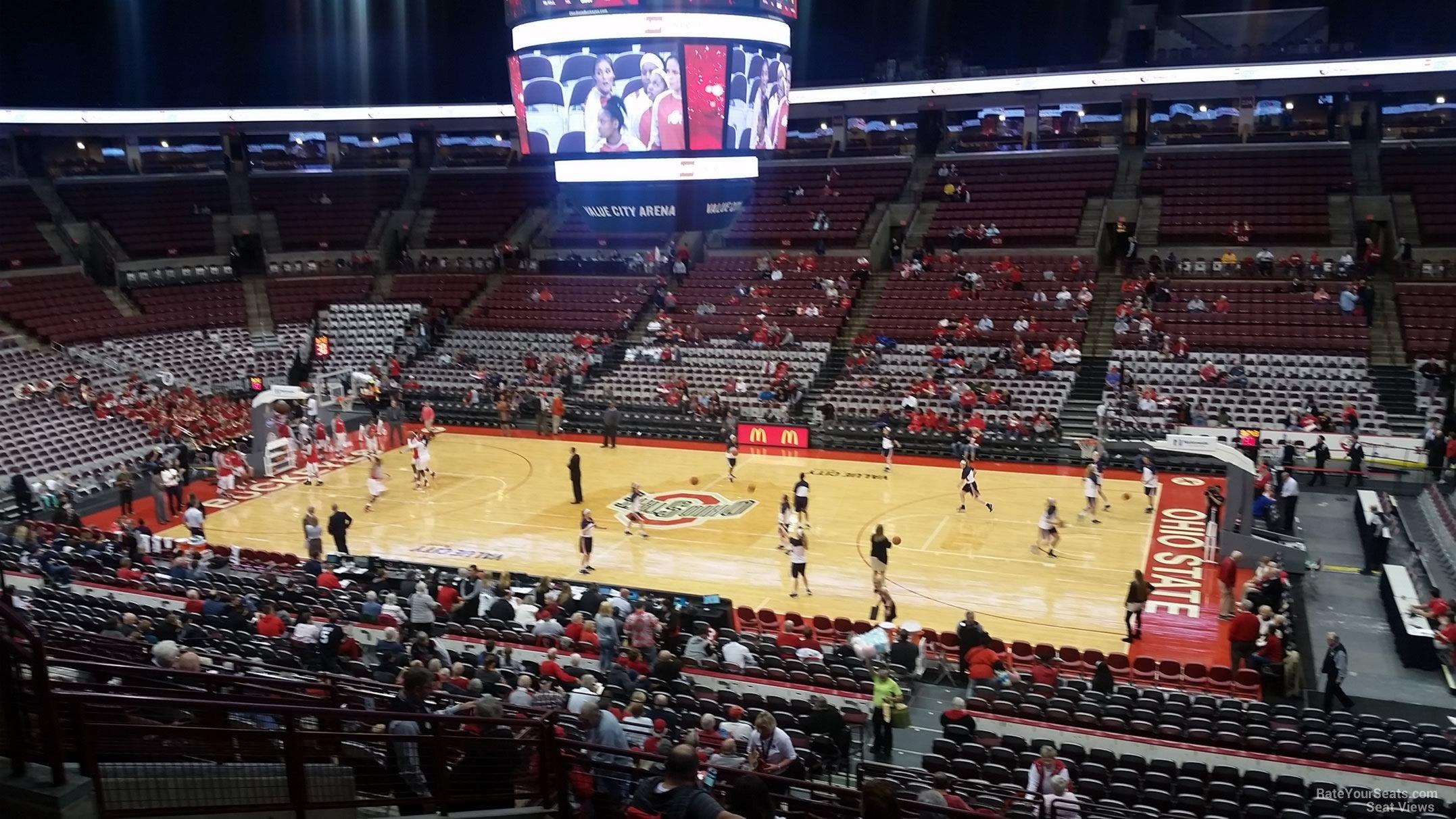 Schottenstein center section 204 ohio state basketball