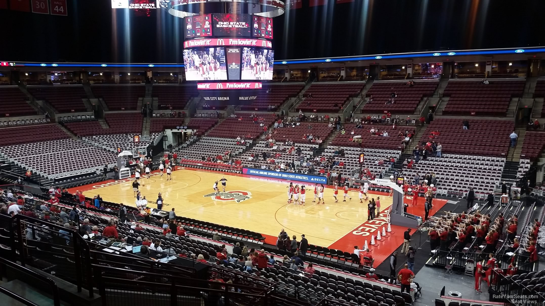Schottenstein center section 220 ohio state basketball