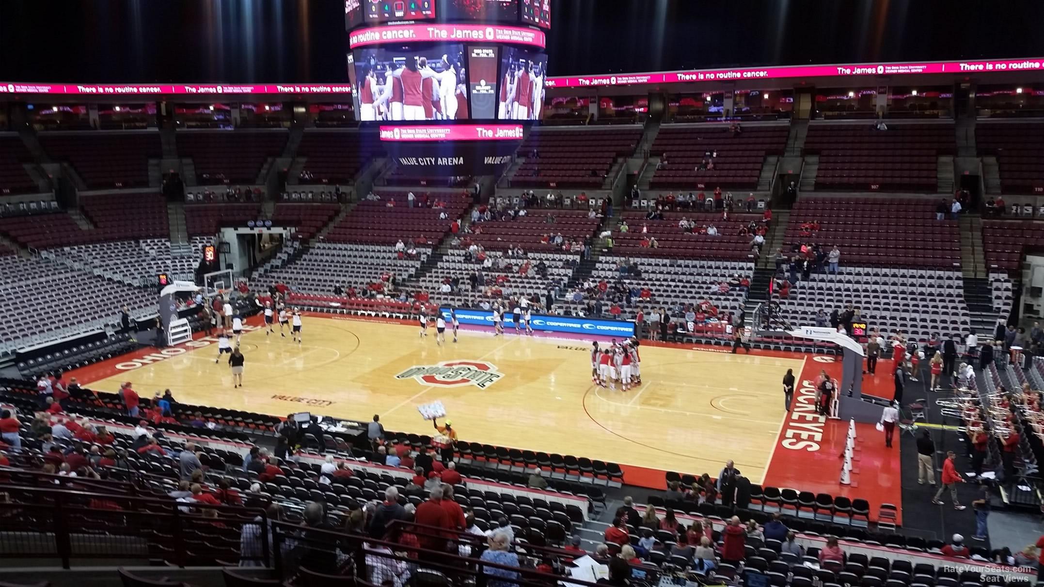 Schottenstein center section 221 ohio state basketball