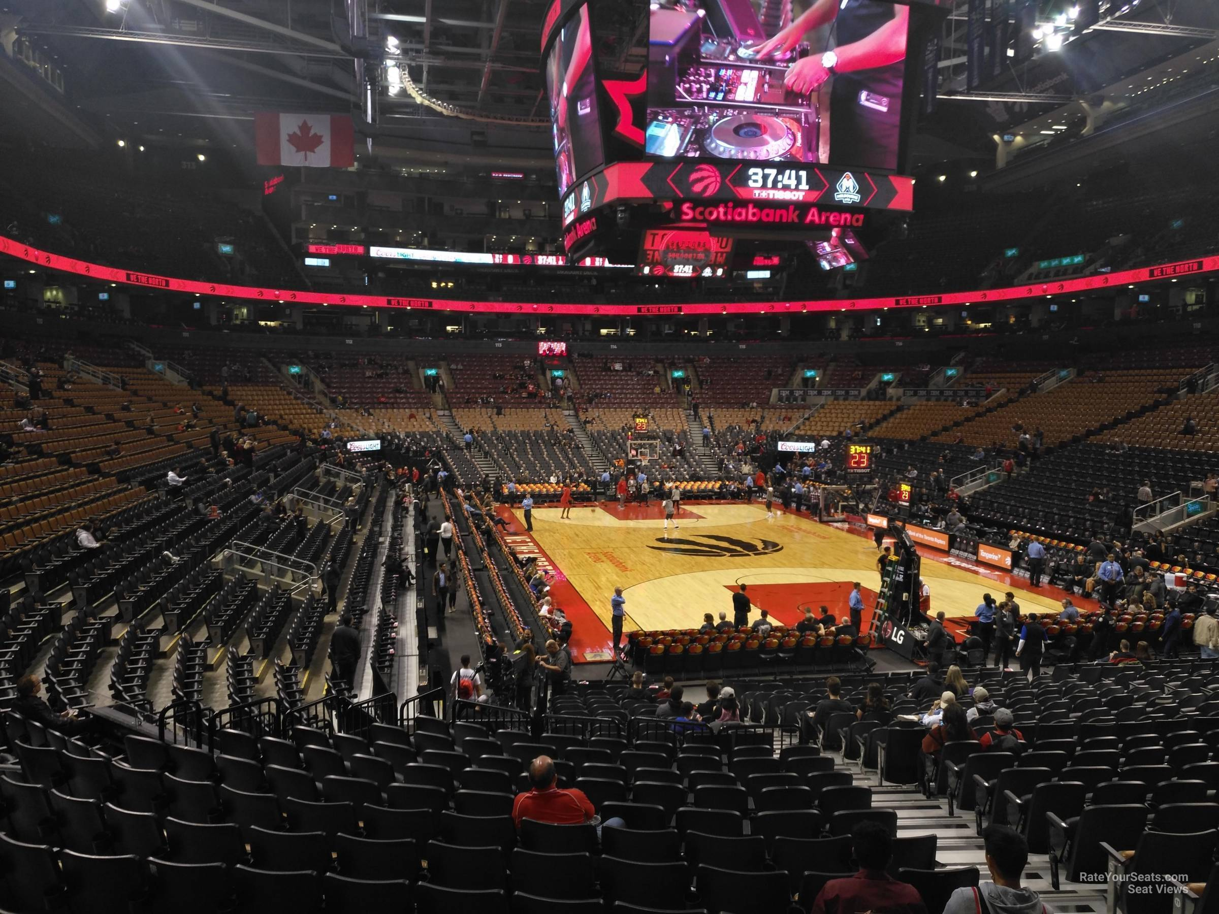 Toronto Raptors Seat View for Scotiabank Arena Section 104, Row 28