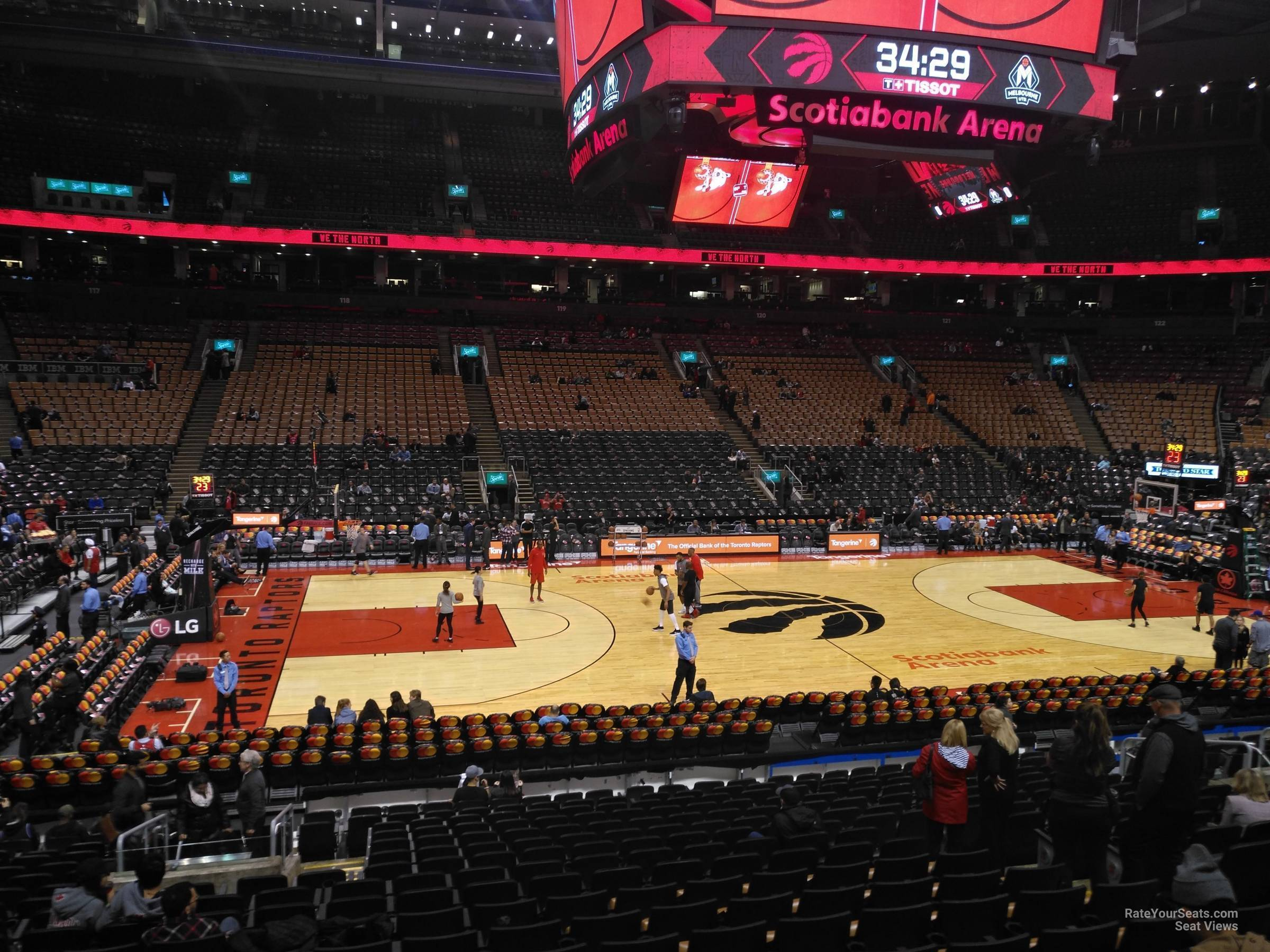 Basketball Seat View for Scotiabank Arena Section 109, Row 28