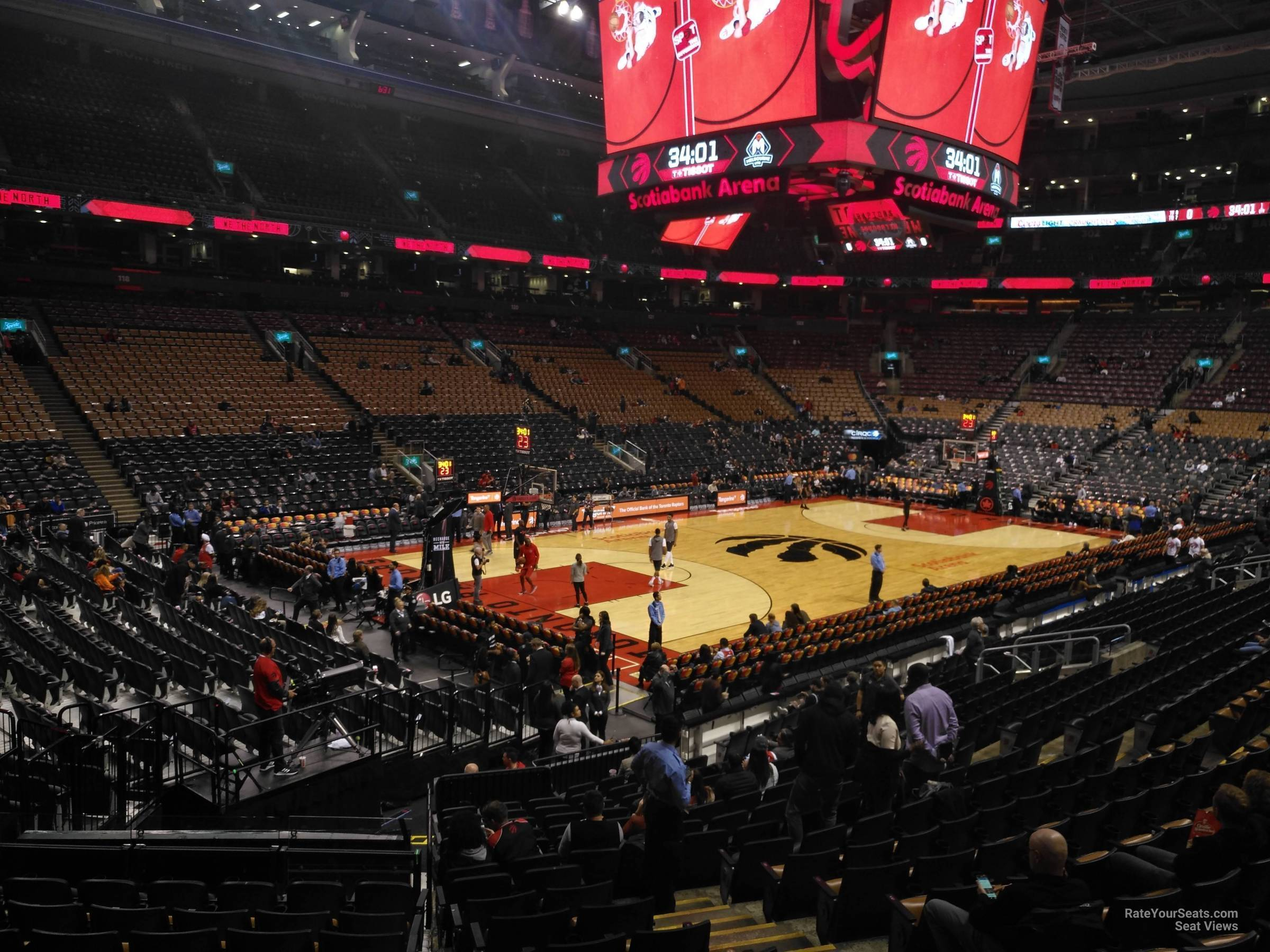 Toronto Raptors Seat View for Scotiabank Arena Section 111, Row 28