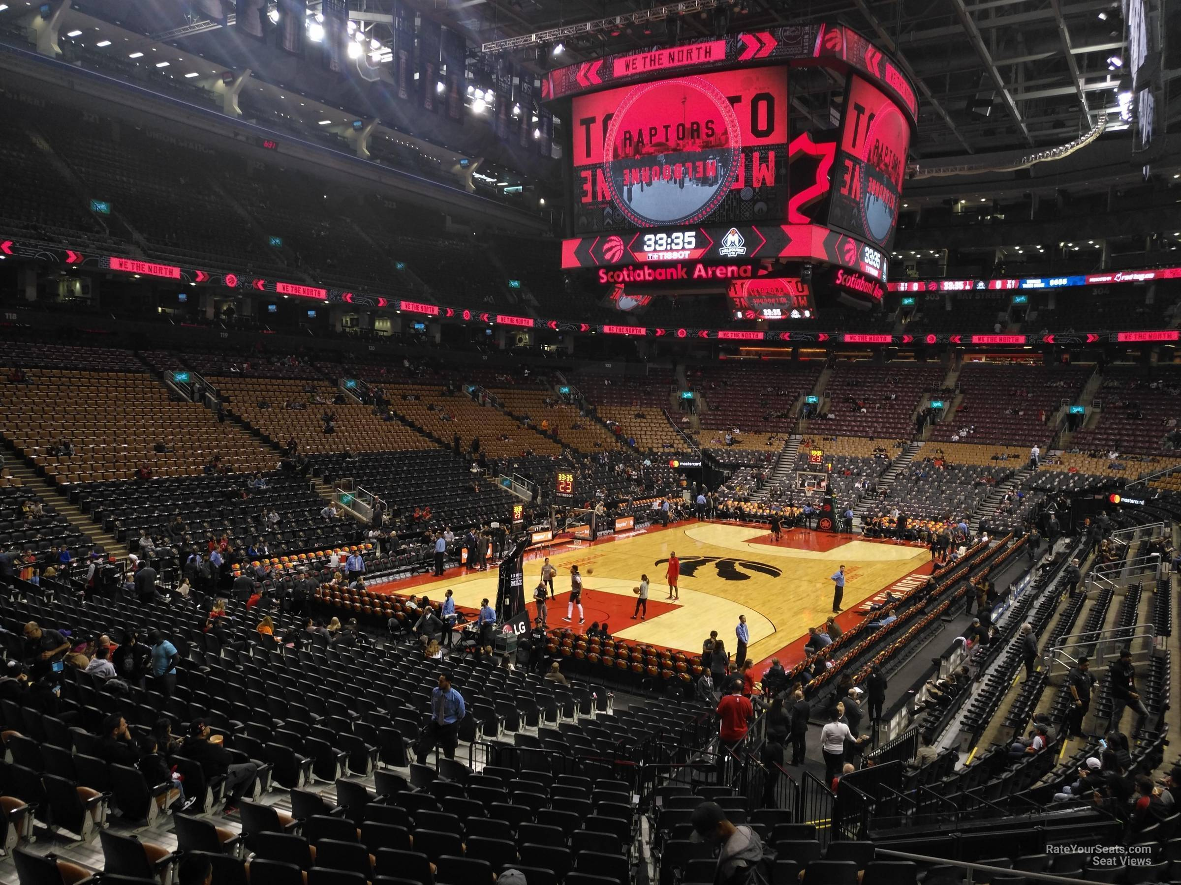 Toronto Raptors Seat View for Scotiabank Arena Section 112, Row 28