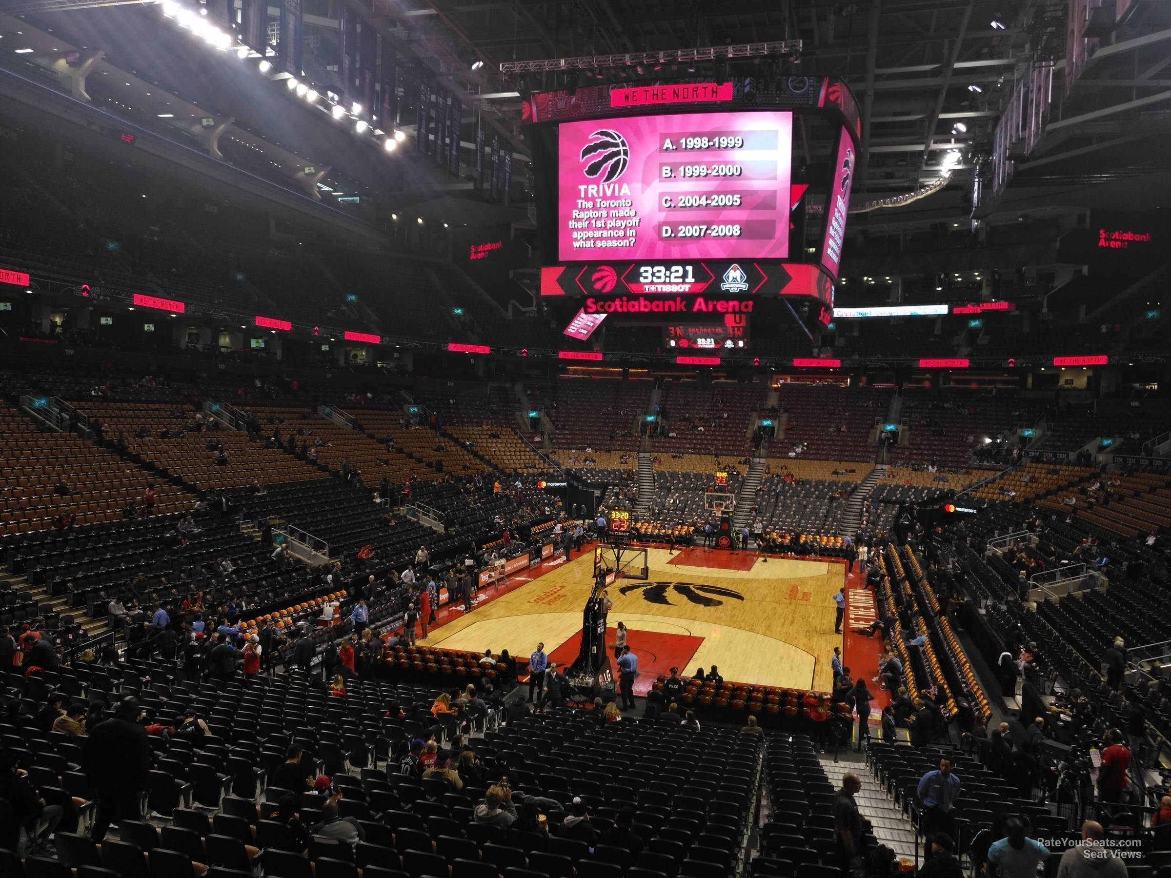 Toronto Raptors Seat View for Scotiabank Arena Section 113, Row 28
