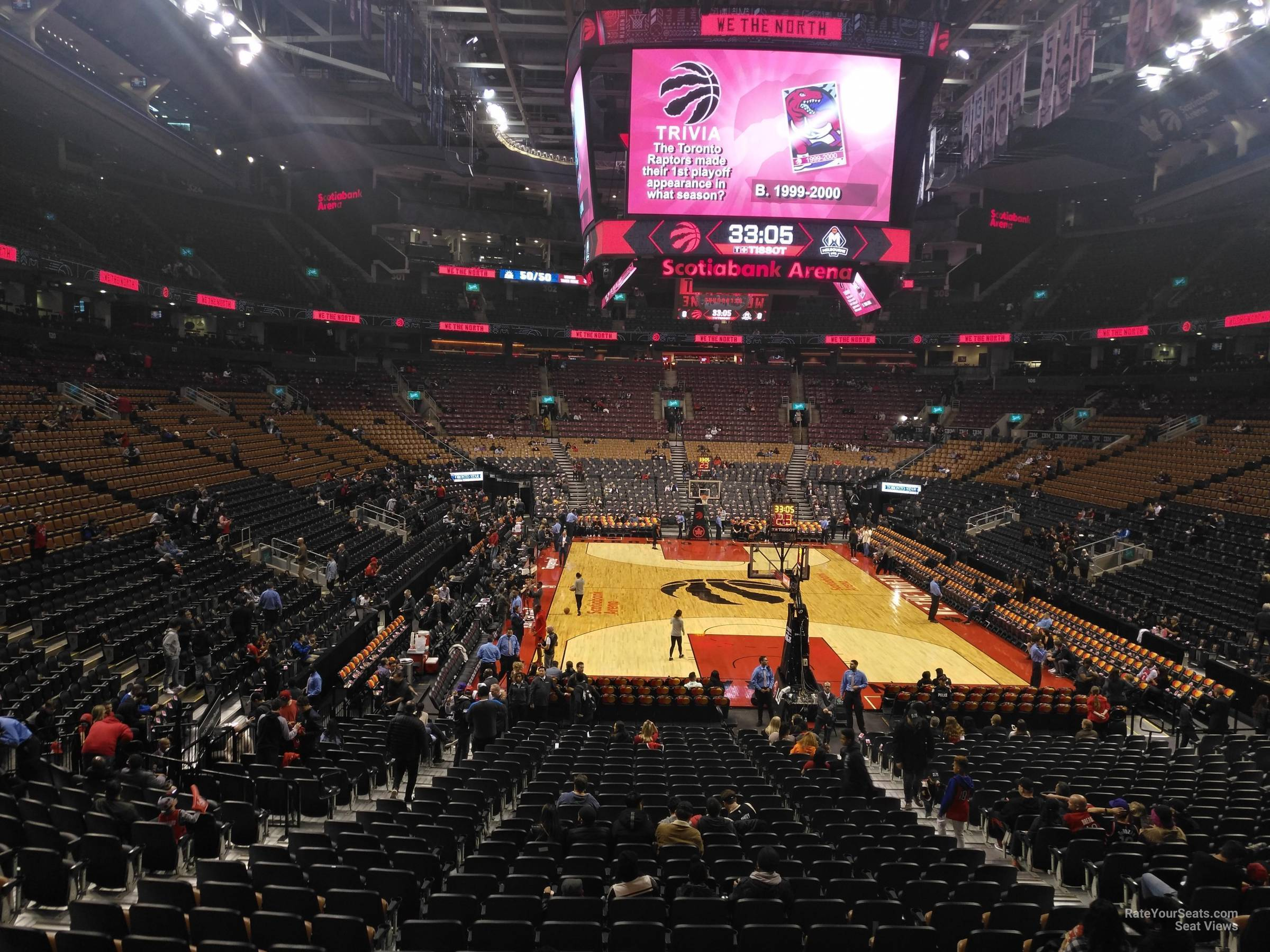 Toronto Raptors Seat View for Scotiabank Arena Section 114, Row 28