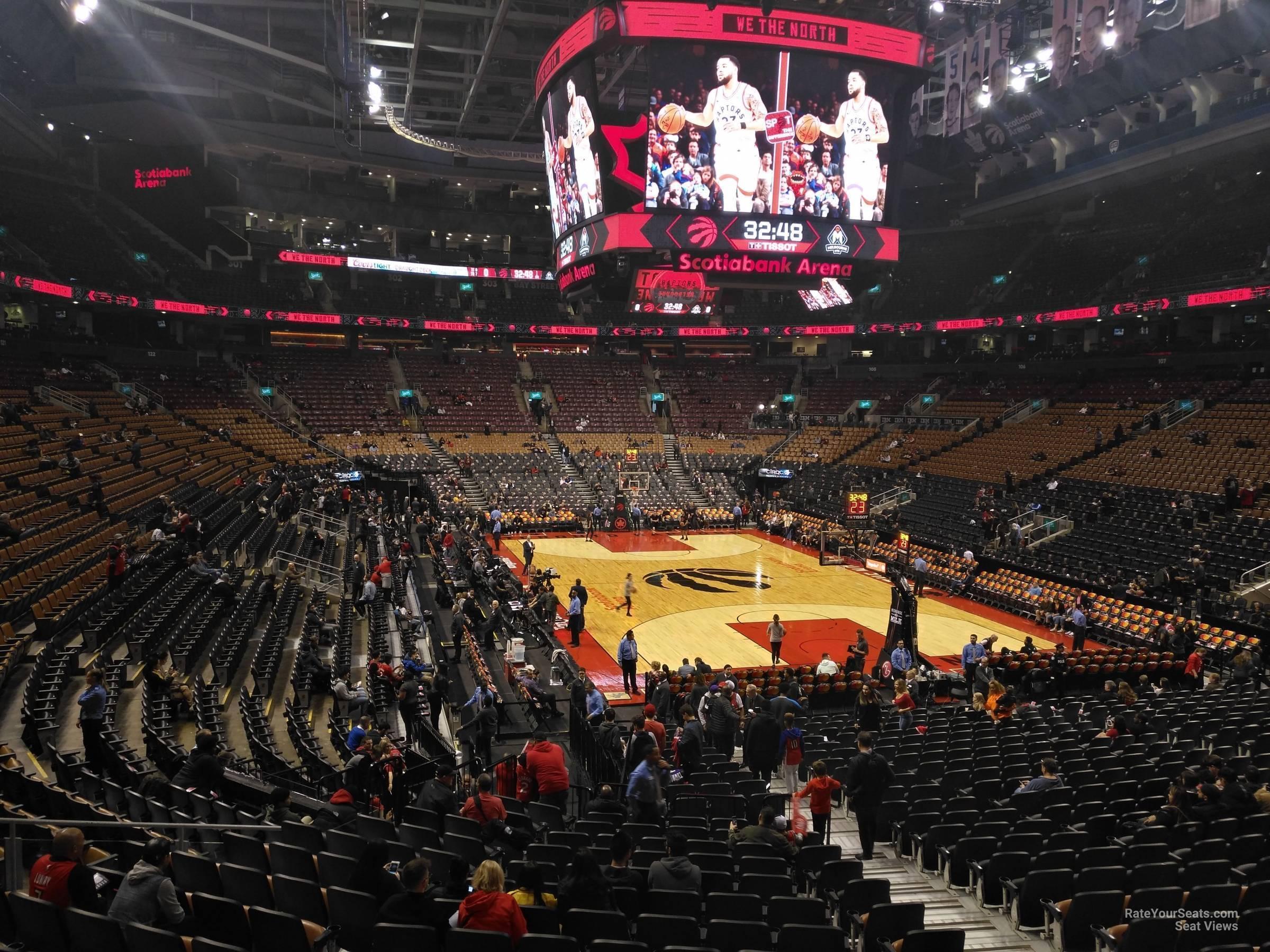 Scotiabank Arena Section 115 Toronto Raptors Rateyourseats Com