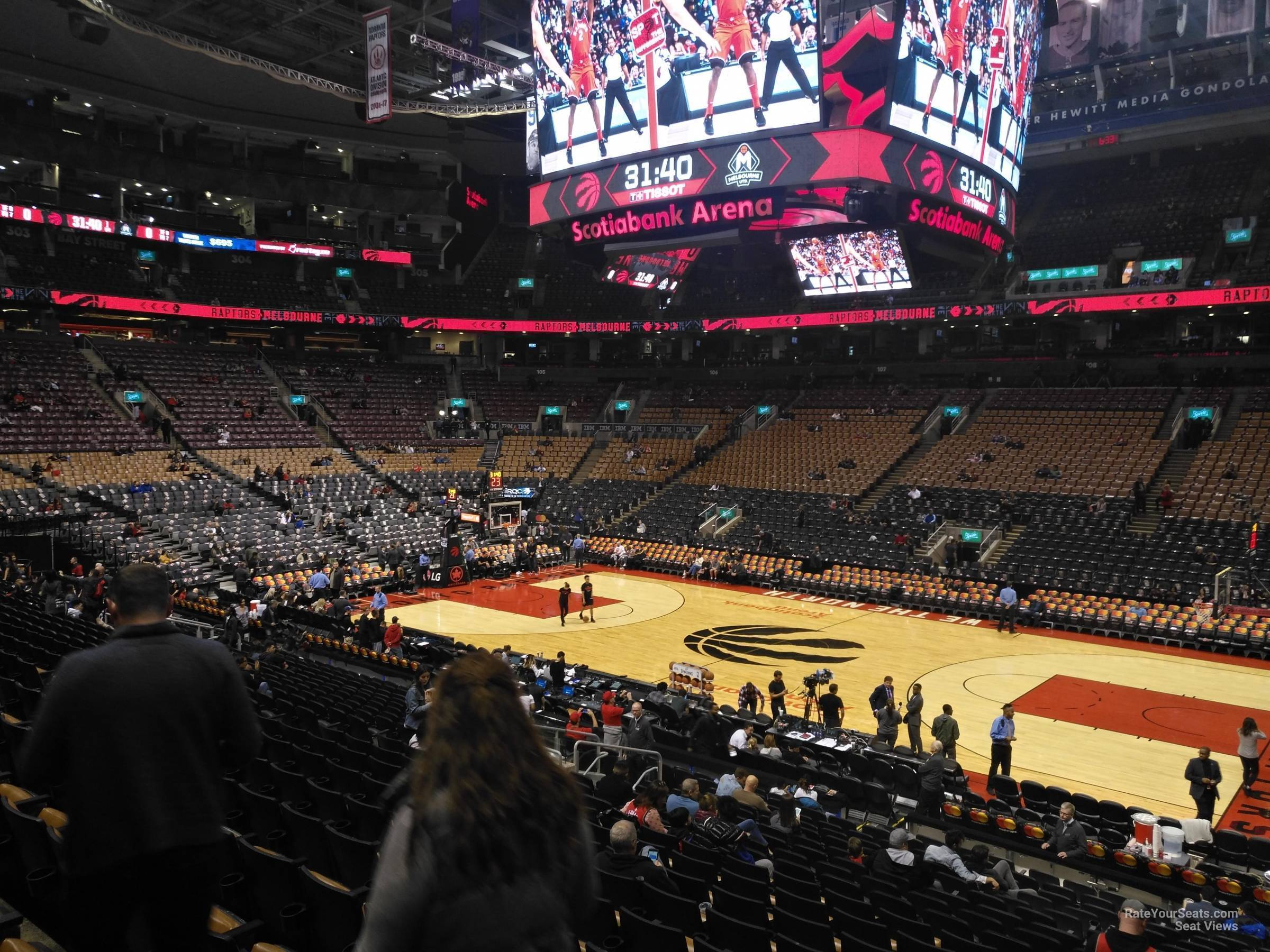 Toronto Raptors Seat View for Scotiabank Arena Section 117, Row 28