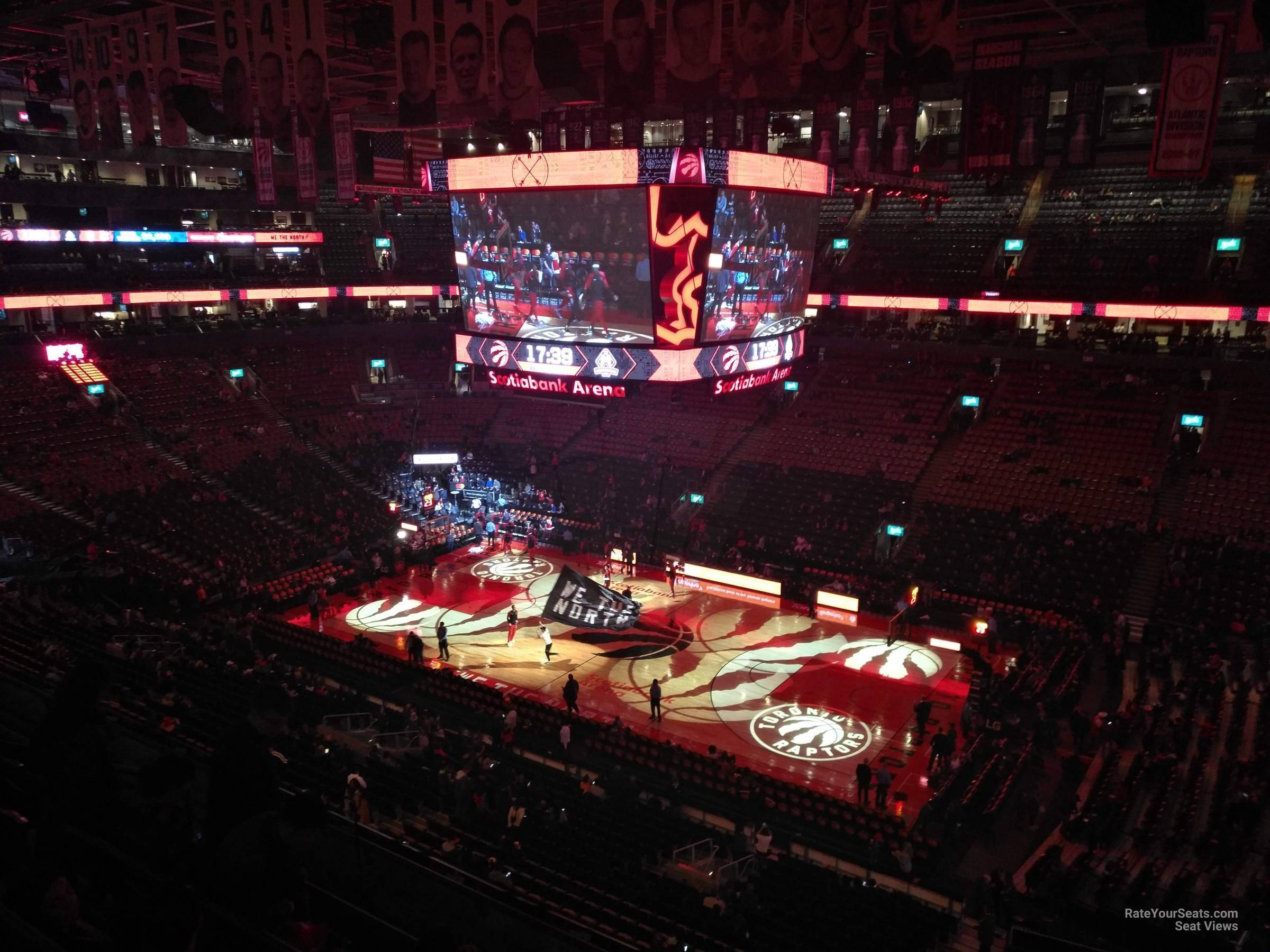Toronto Raptors Seat View for Scotiabank Arena Section 307, Row 7