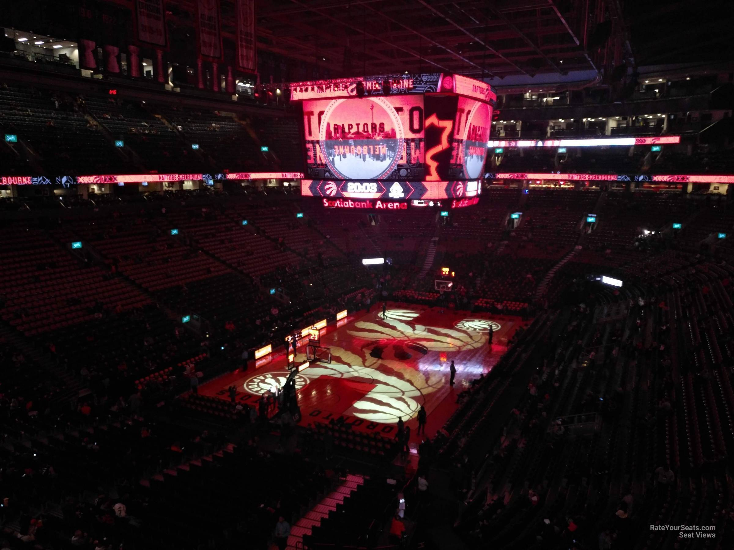 Toronto Raptors Seat View for Scotiabank Arena Section 313, Row 7
