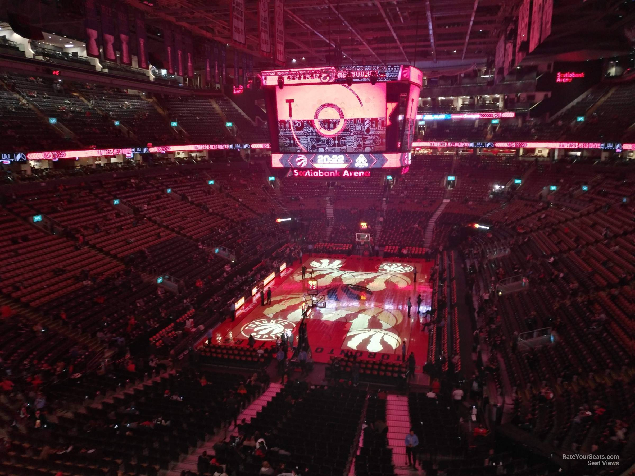 Basketball Seat View for Scotiabank Arena Section 314, Row 3