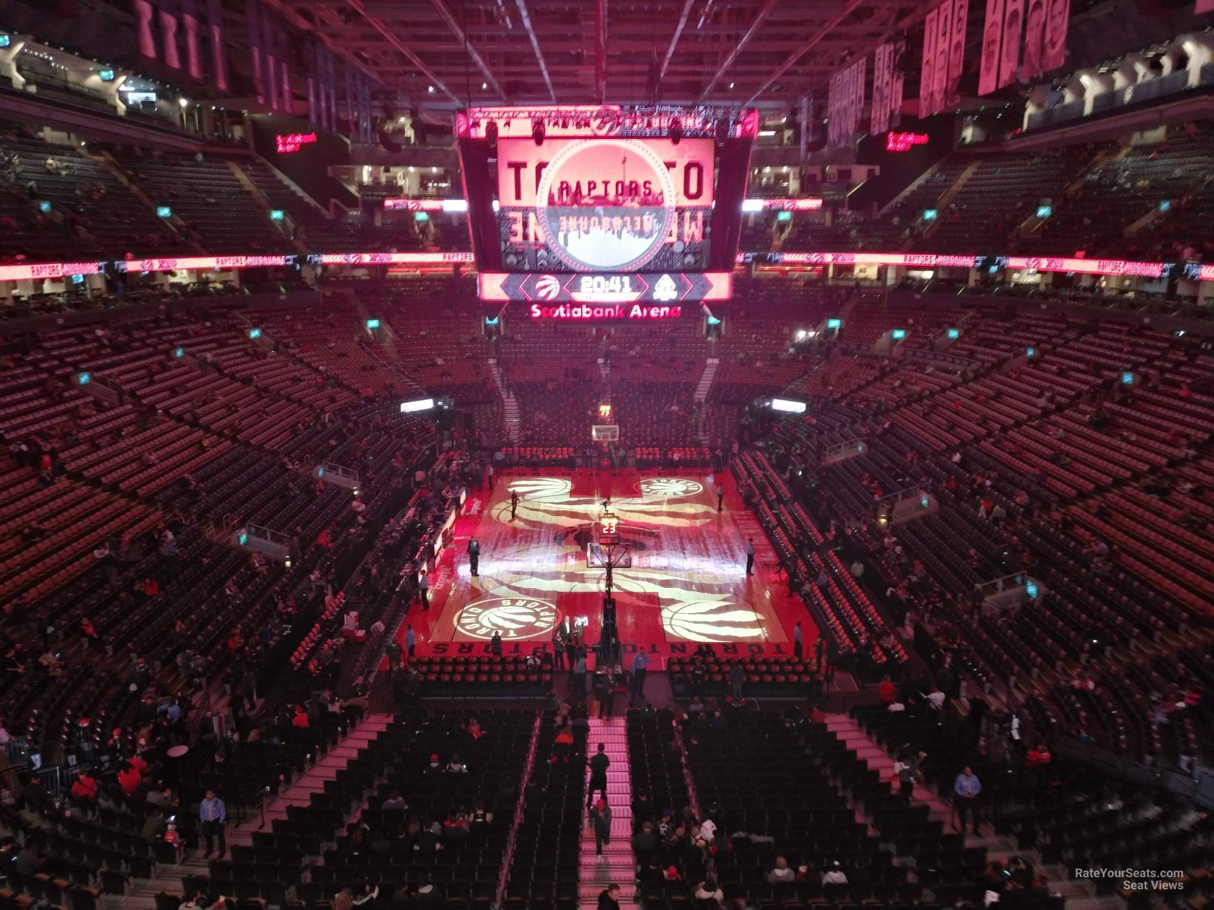 Toronto Raptors Seat View for Scotiabank Arena Section 315, Row 3