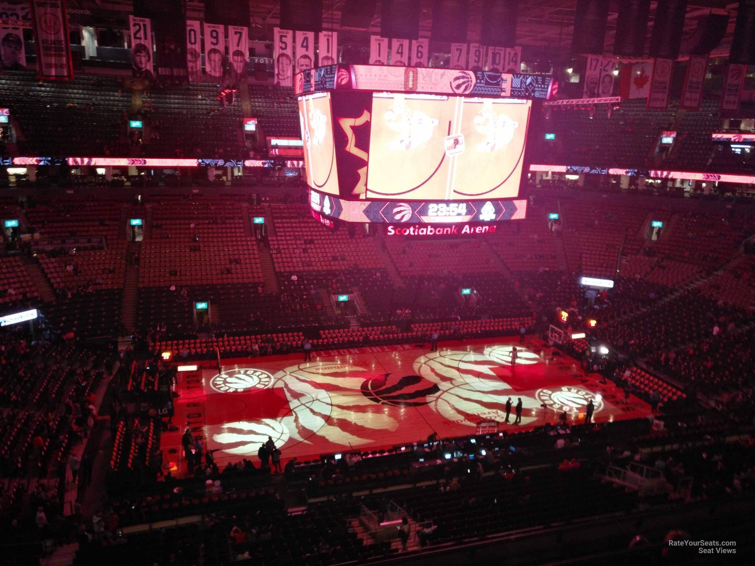 Toronto Raptors Seat View for Scotiabank Arena Section 322, Row 7