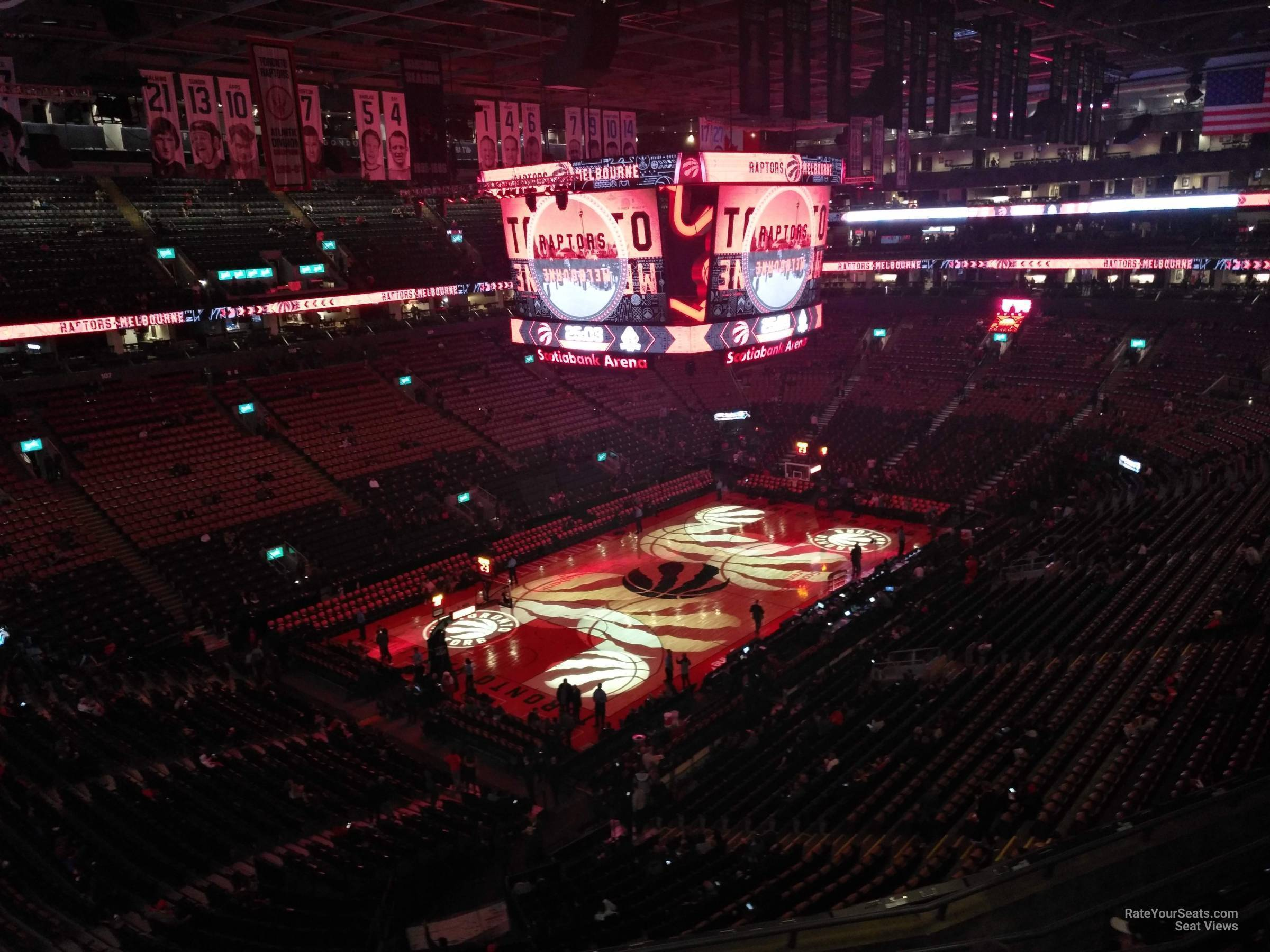 Toronto Raptors Seat View for Scotiabank Arena Section 324, Row 7