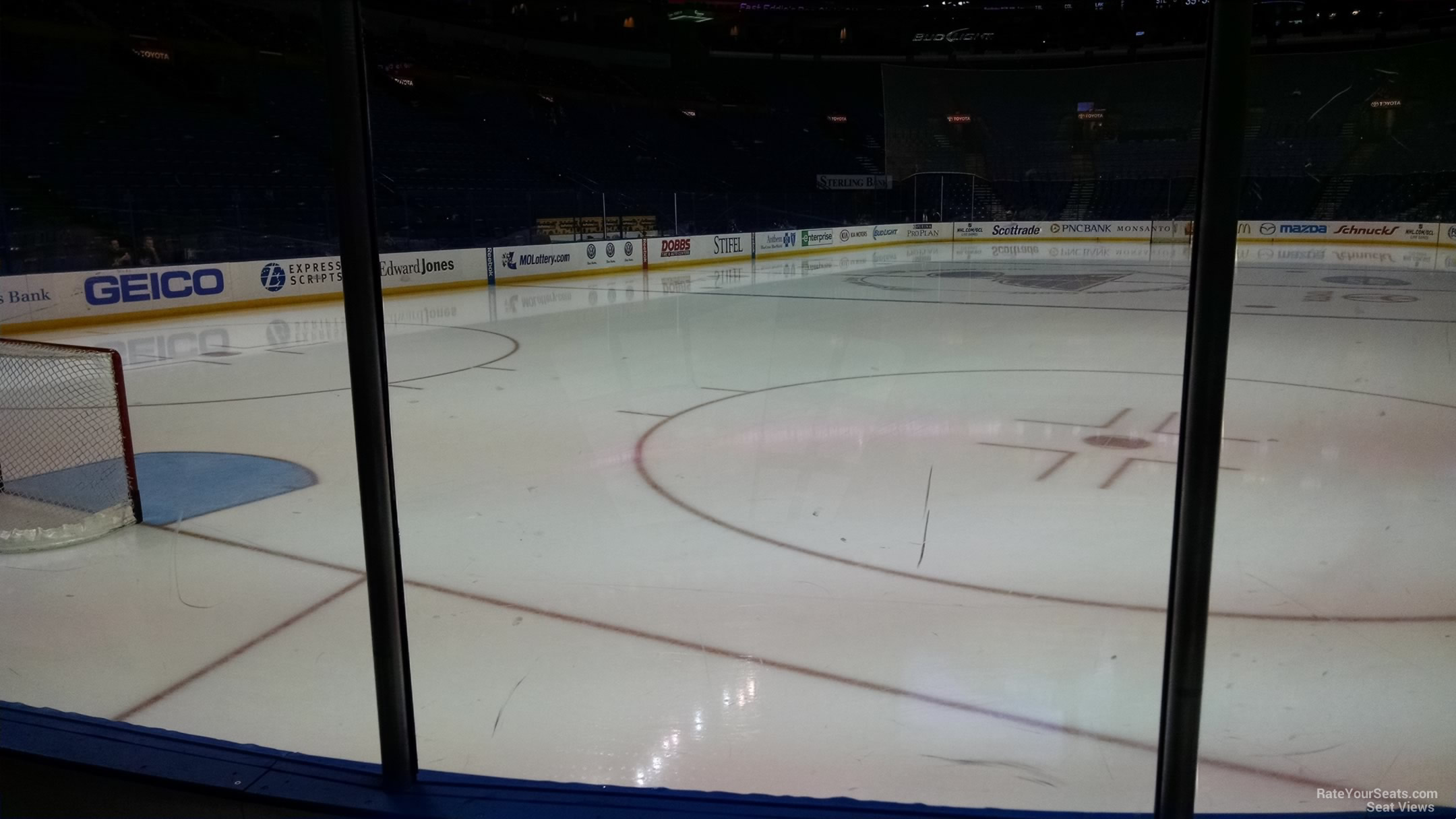 St. Louis Blues Seat View for Enterprise Center Section 108, Row C