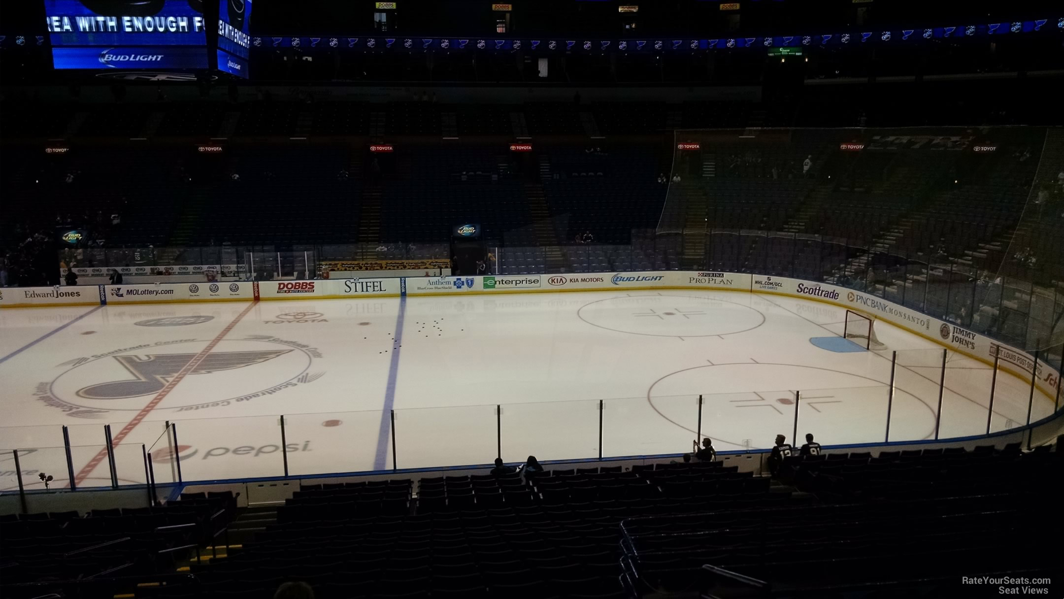 St Louis Blues Seat View for Scottrade Center Club 115