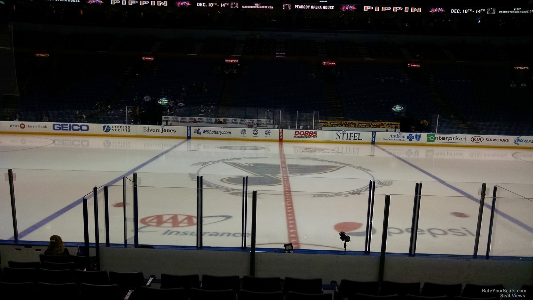 Scottrade Center Hockey Section 116 Row L on 9 30 2014k