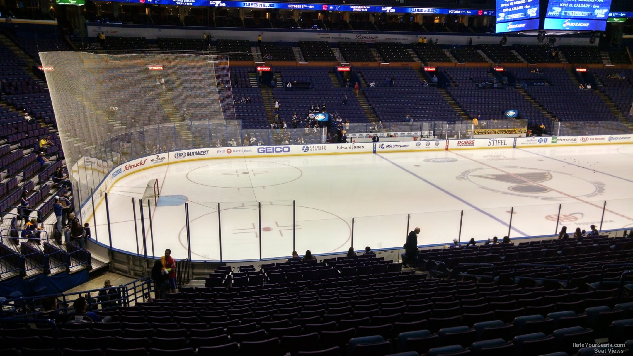 St Louis Blues Seat View for Scottrade Center Club 118