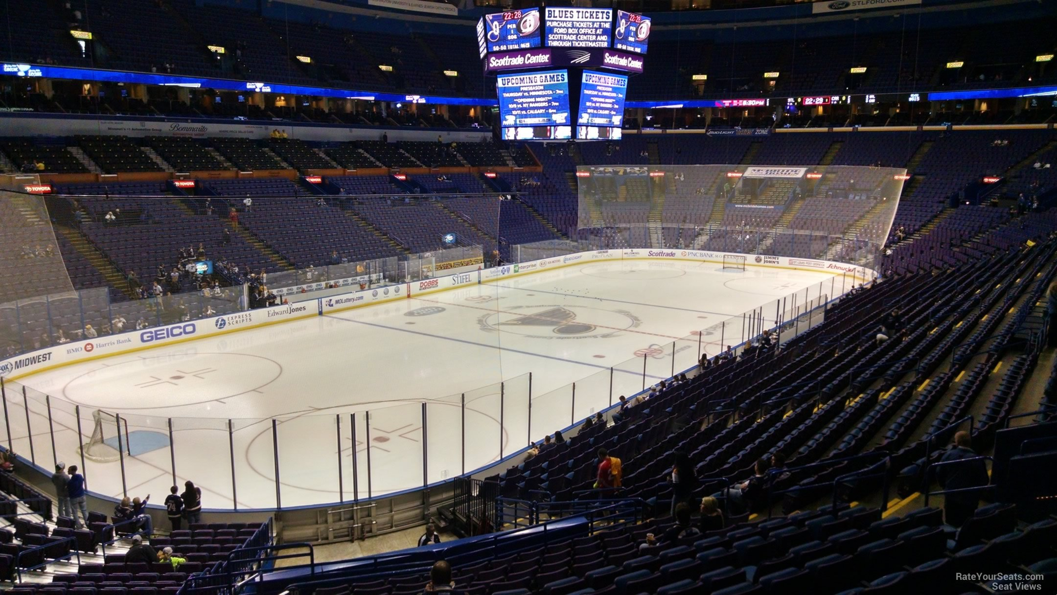 St Louis Blues Seat View for Scottrade Center Section 119