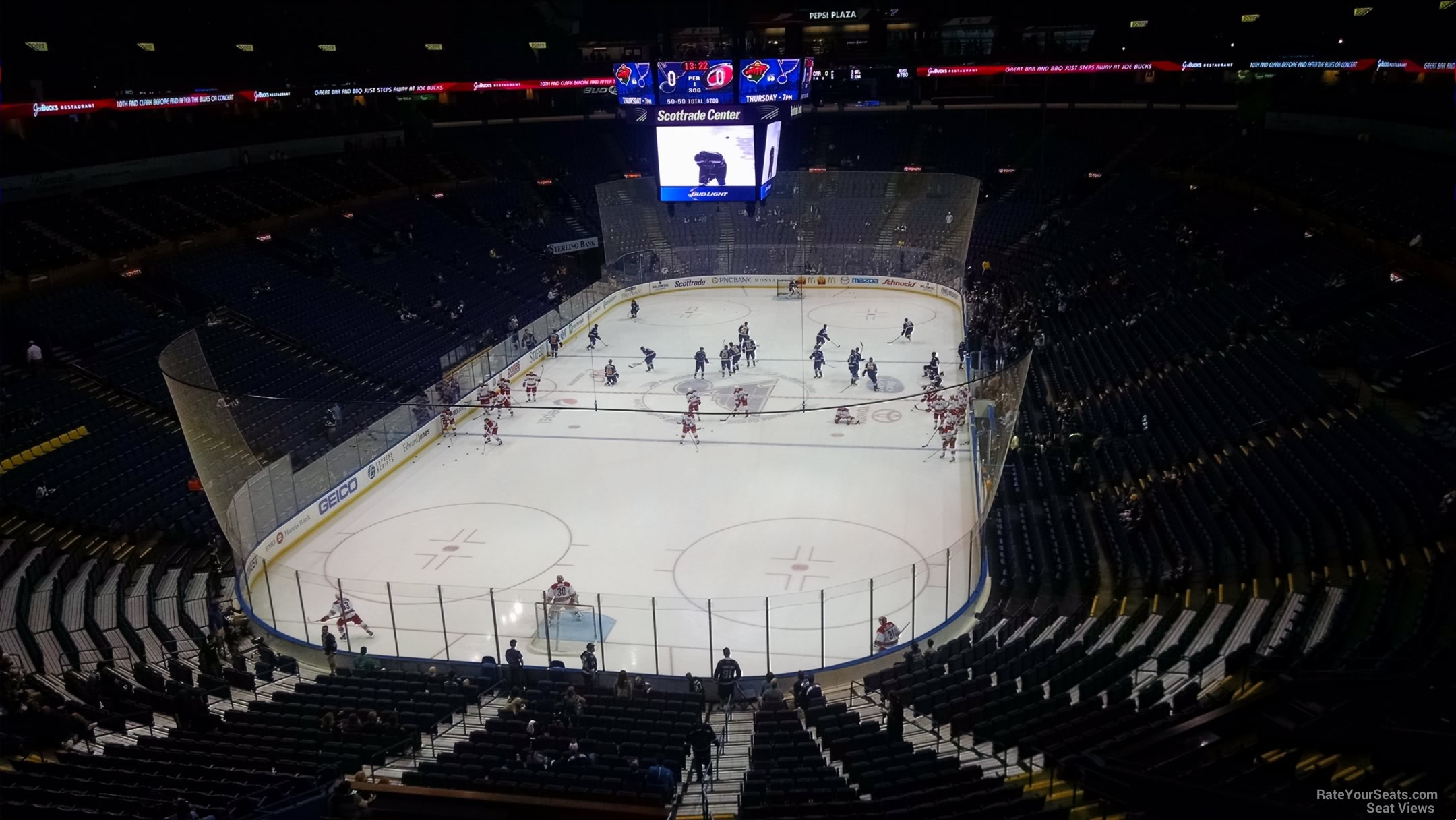 St. Louis Blues Seat View for Enterprise Center Section 310, Row A