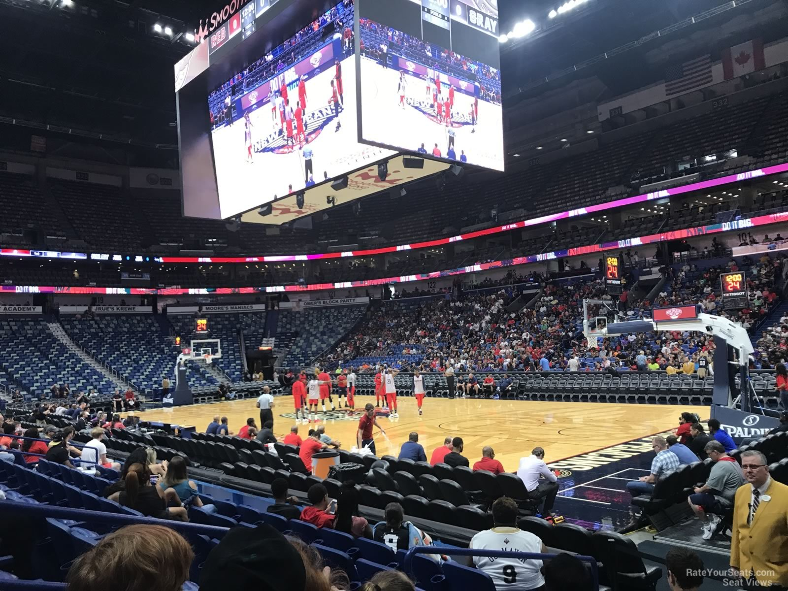 Smoothie King Center Section 110 New Orleans Pelicans
