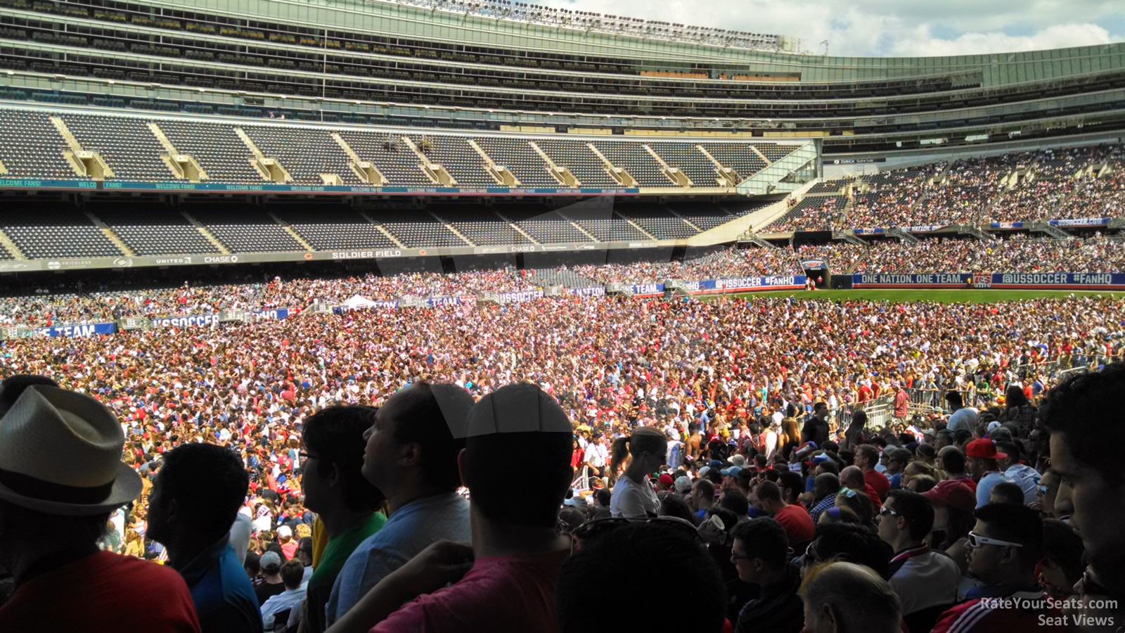 Concert Seat View for Soldier Field Section 144