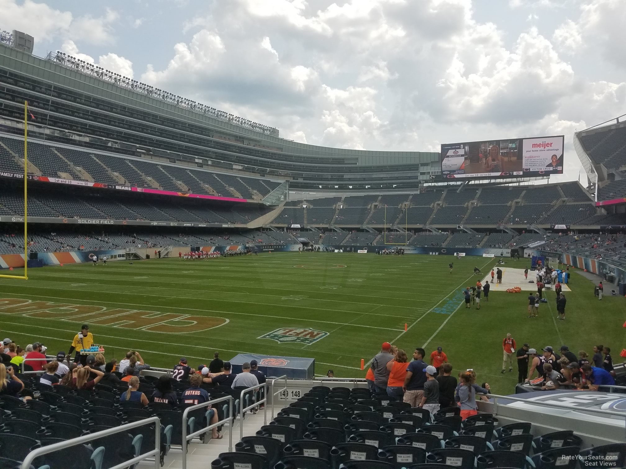 Seat View for Soldier Field Section 148, Row 16